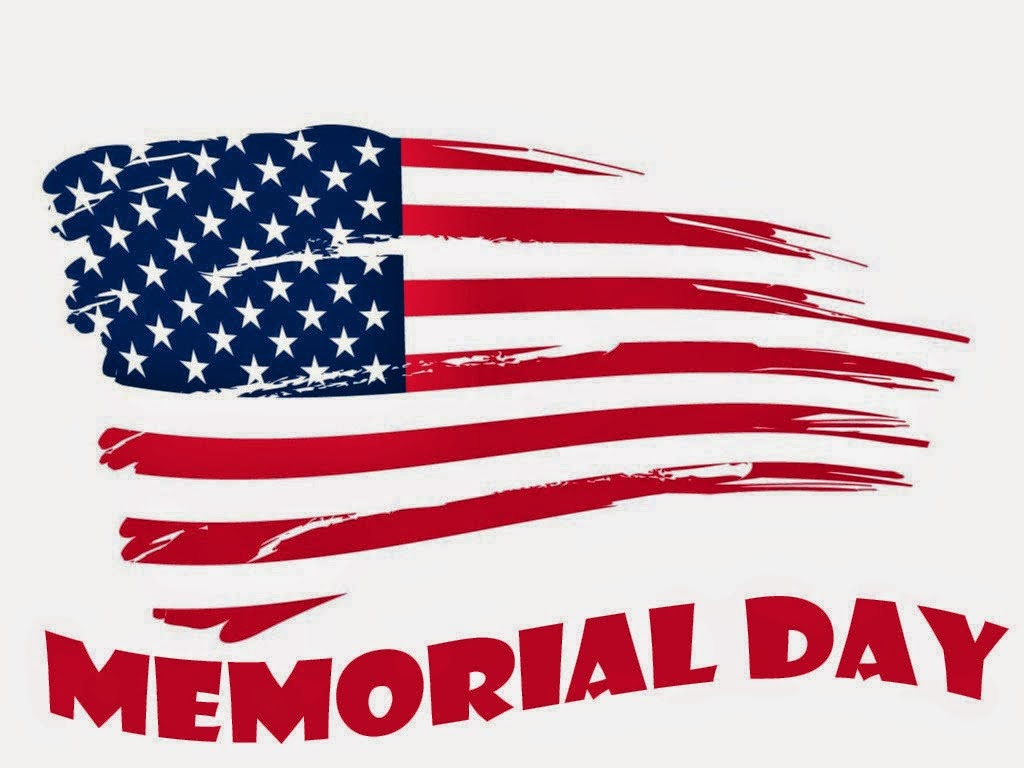 Holiday Schedule next Monday for Memorial Day