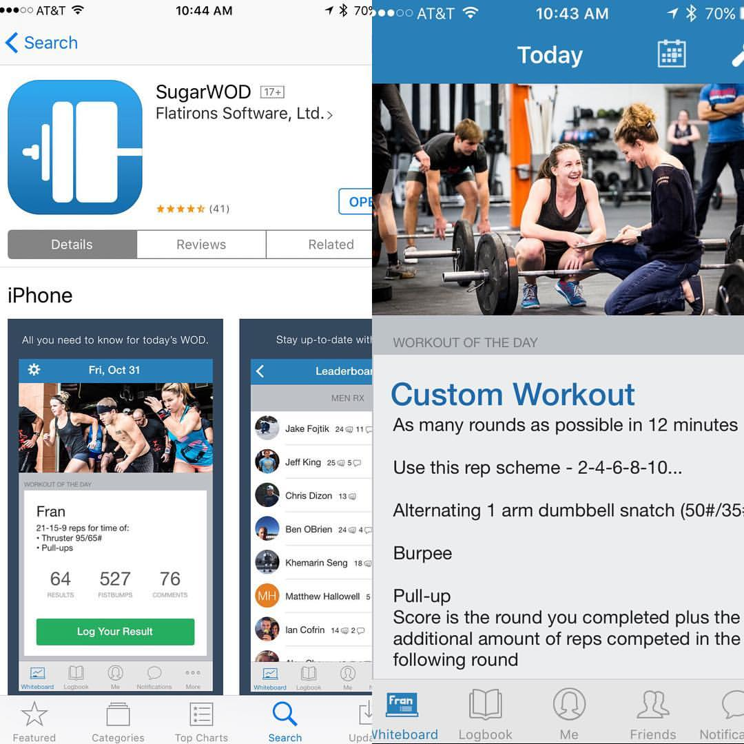 Download SugarWod to keep track of your workouts