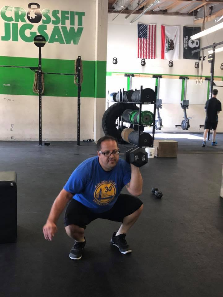 Pedro working a 1 arm thruster