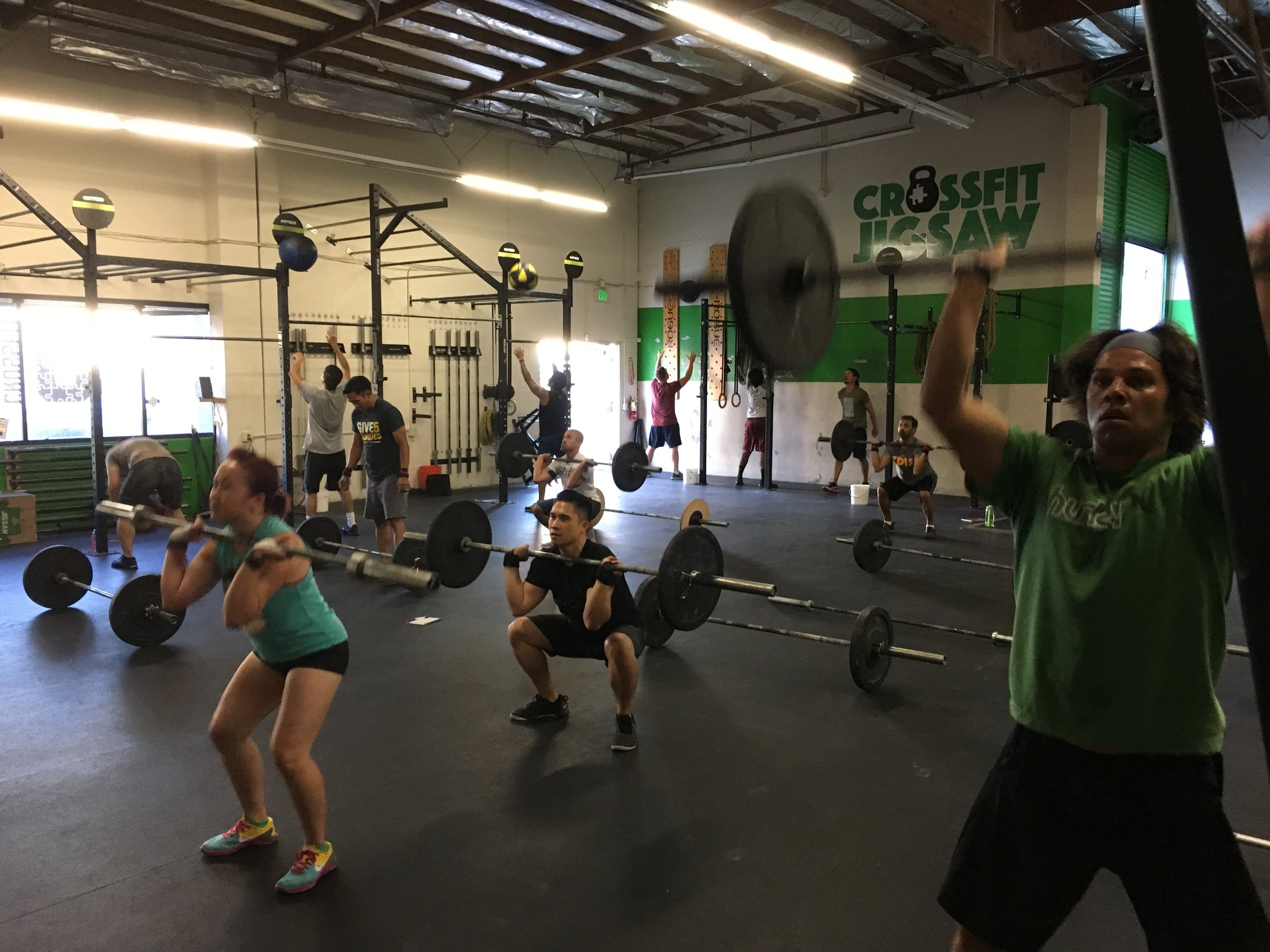 7pm class getting after the interval workout on Wednesday