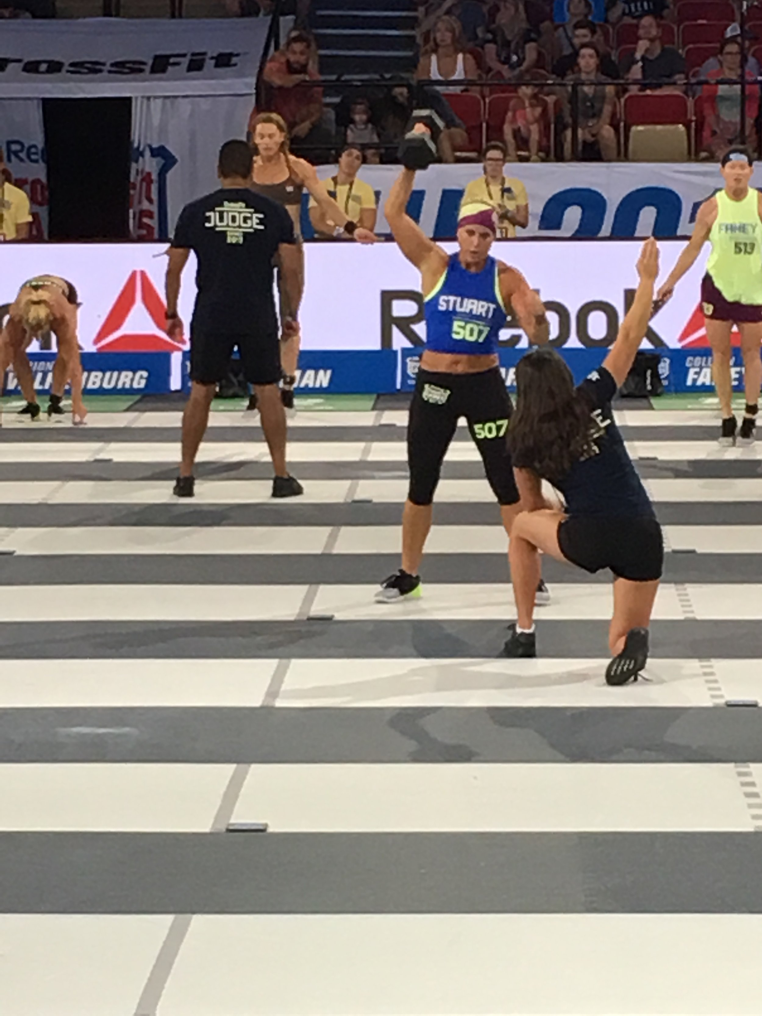 Diane finished 4th in the 50-54 division at the 2017 CrossFit Games!
