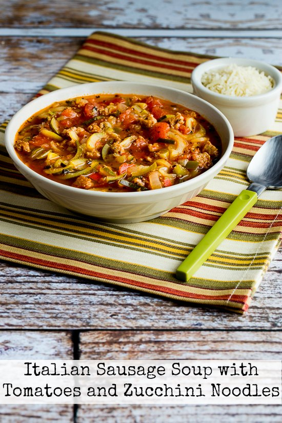 Recipe of the week - Soup with Sausage, tomato and zucchini noodles
