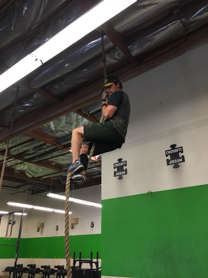 Jim with his first rope climb!