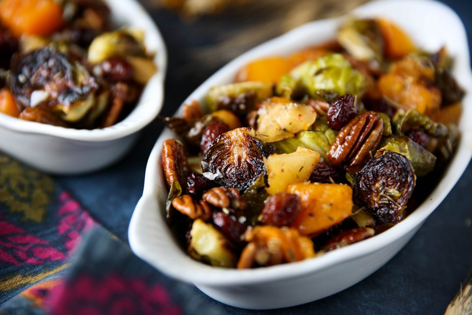 Recipe of the week - Maple roasted Brussel Sprouts and Butternut Squash