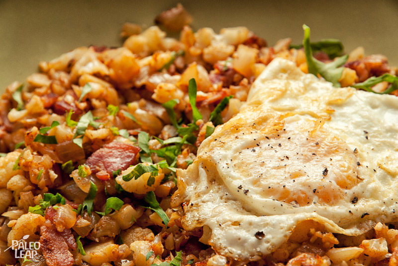 Recipe of the week - Cauliflower and Bacon Hash