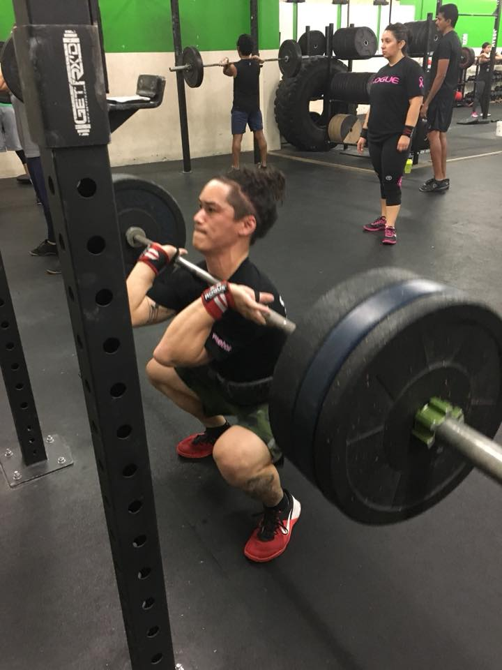 Sean making heavy front squats look easy