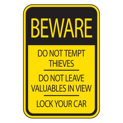Store your valuables carefully