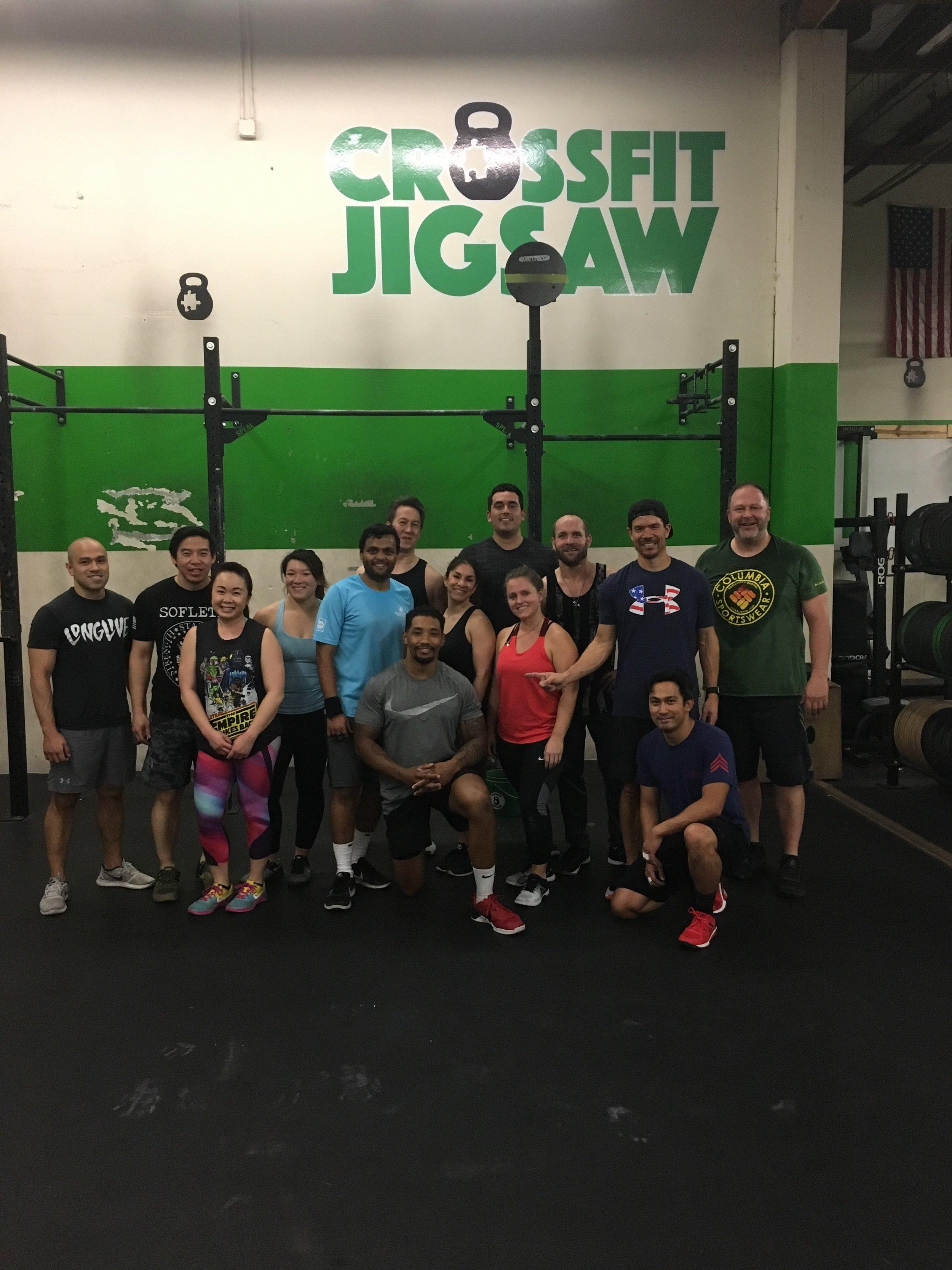 Coach John's first official class at Jigsaw