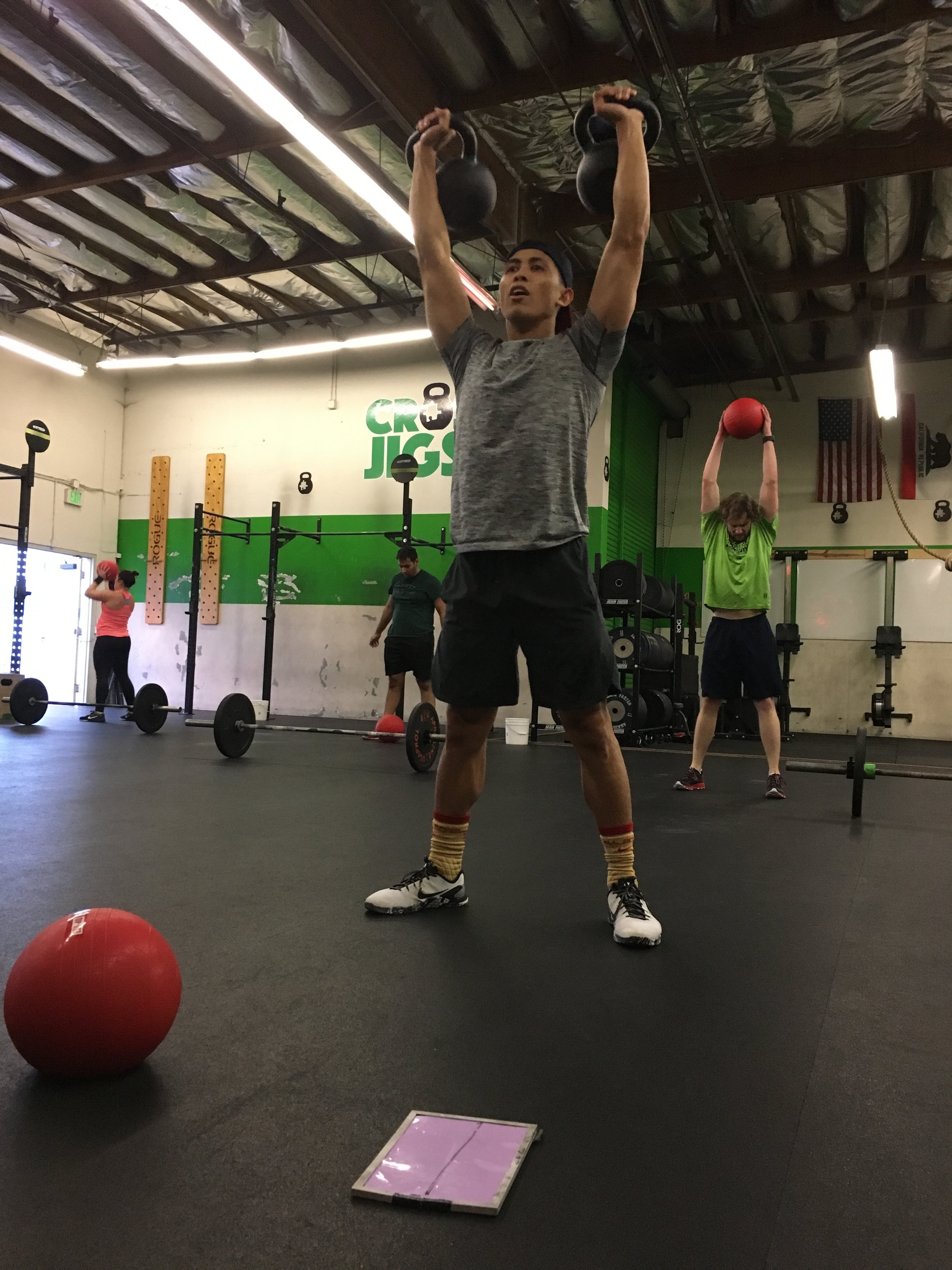 EJ took on the challenge of Kettlebells over a barbell