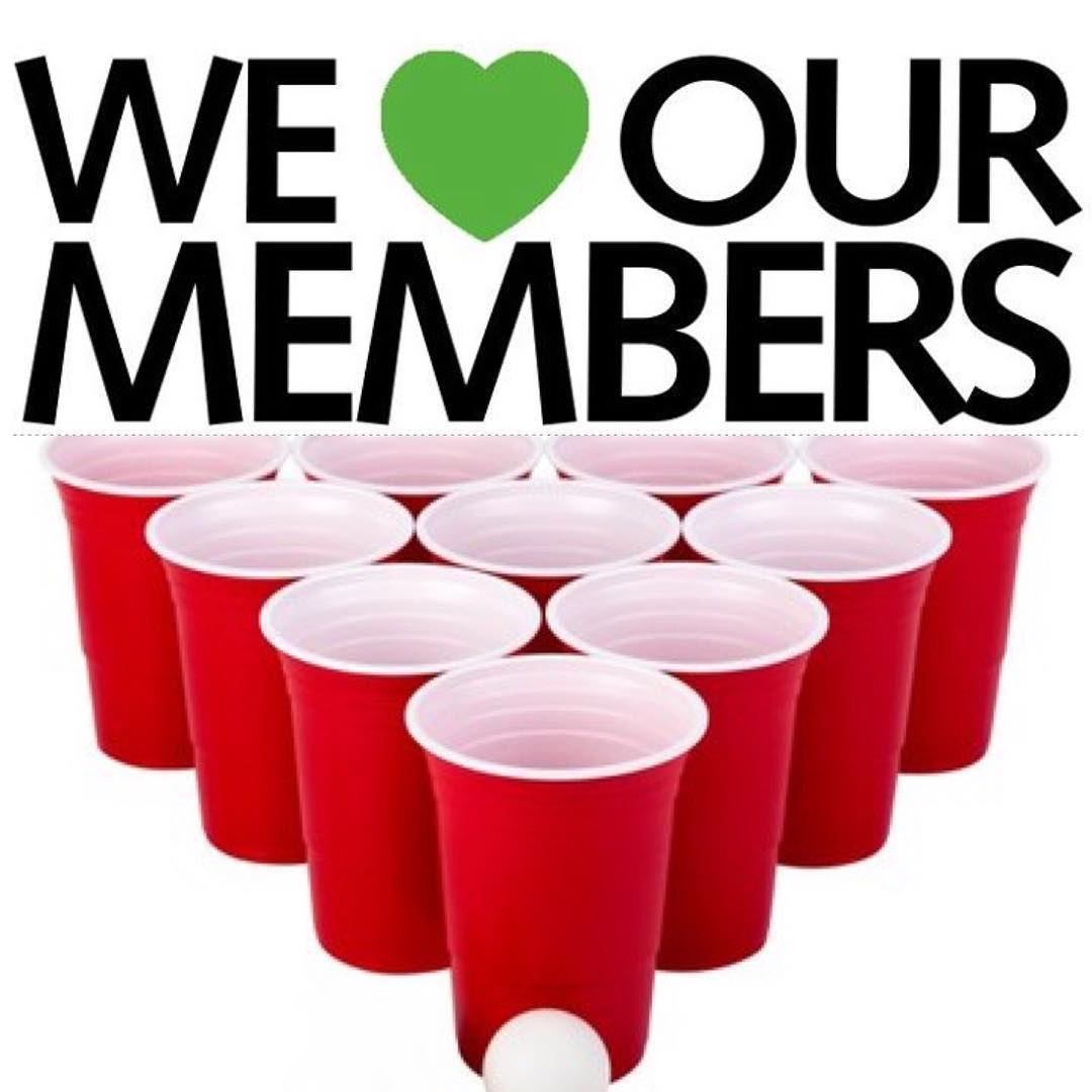 Member appreciation party and 1-arm toss tournament this weekend!