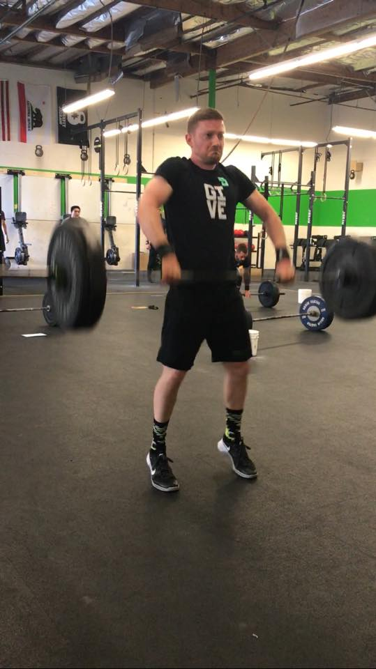 Rob getting good extension on his cleans