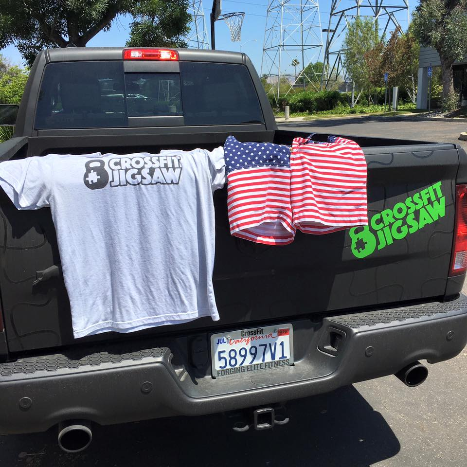 Come in your best flag shirt/shorts and Jigsaw gear!