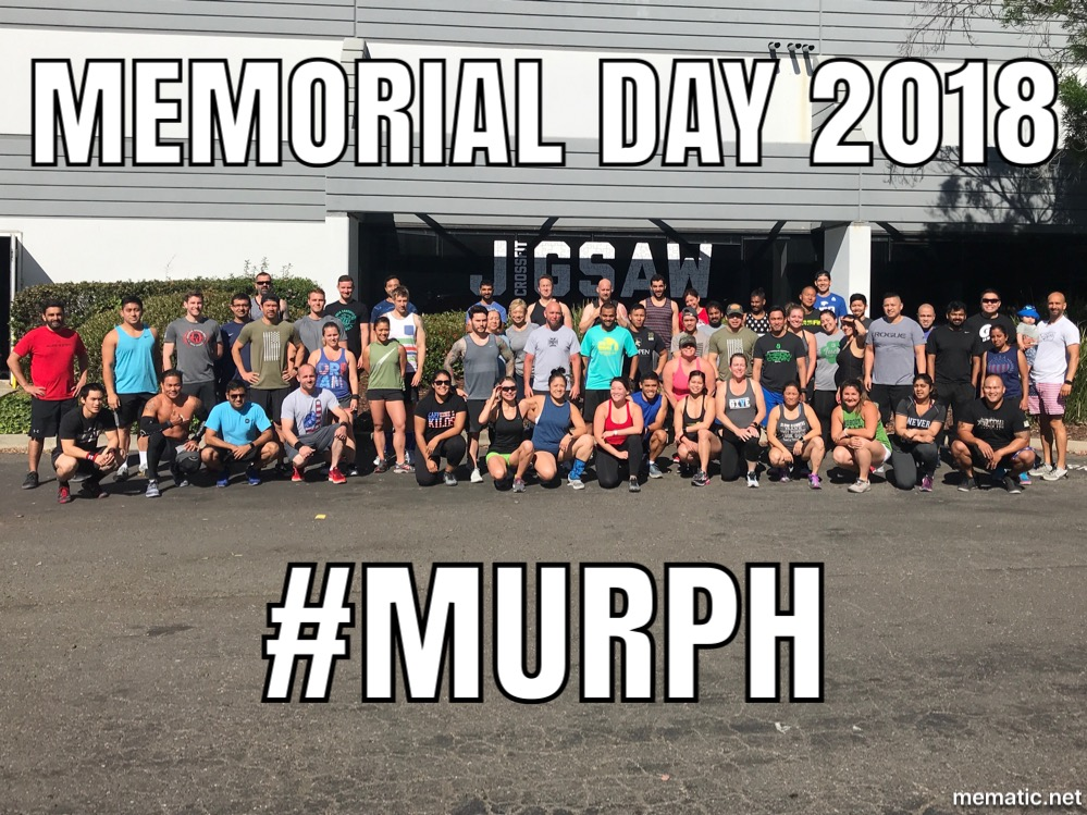 We had 60 members get after Murph on Monday!