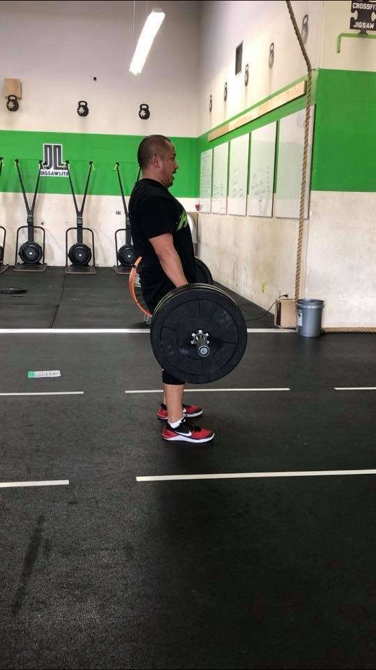 Glen loading up for some heavy hang cleans!