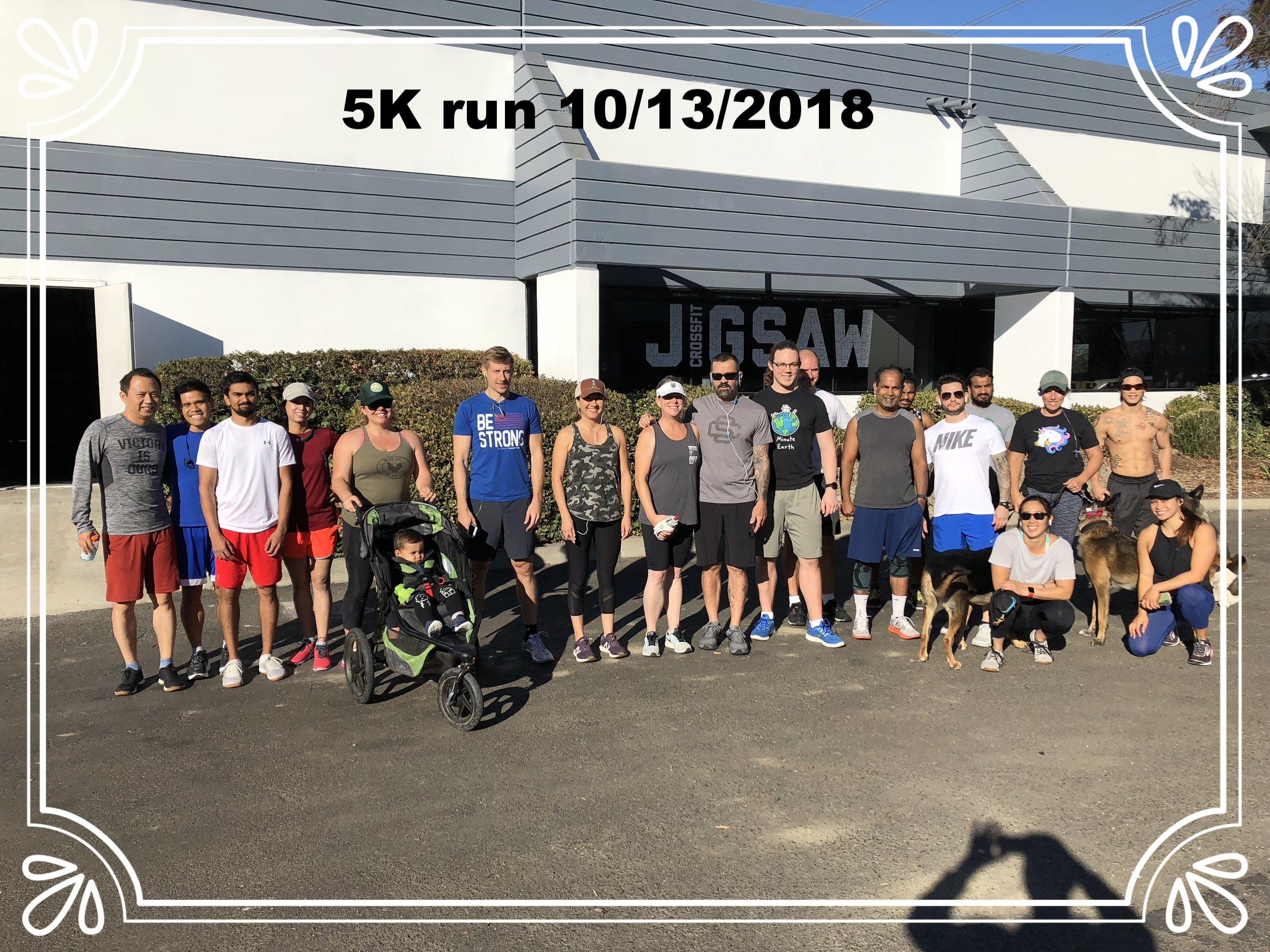 5k Run 10/13/2018