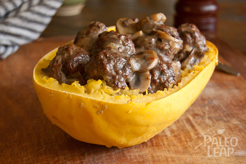 Recipe of the week - Meatballs atop Squash