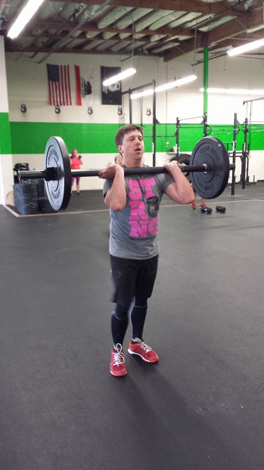 Tim working with an axle bar
