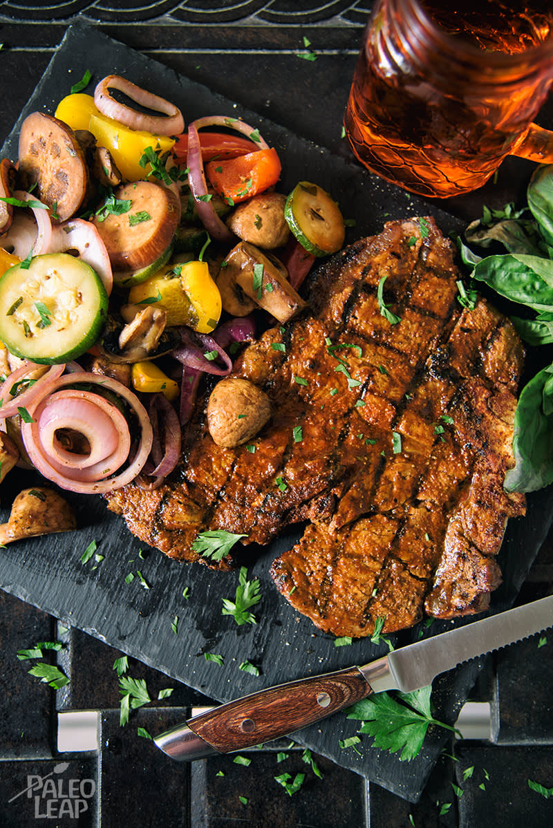 Recipe of the week - Grilled T-bone with vegetable salad