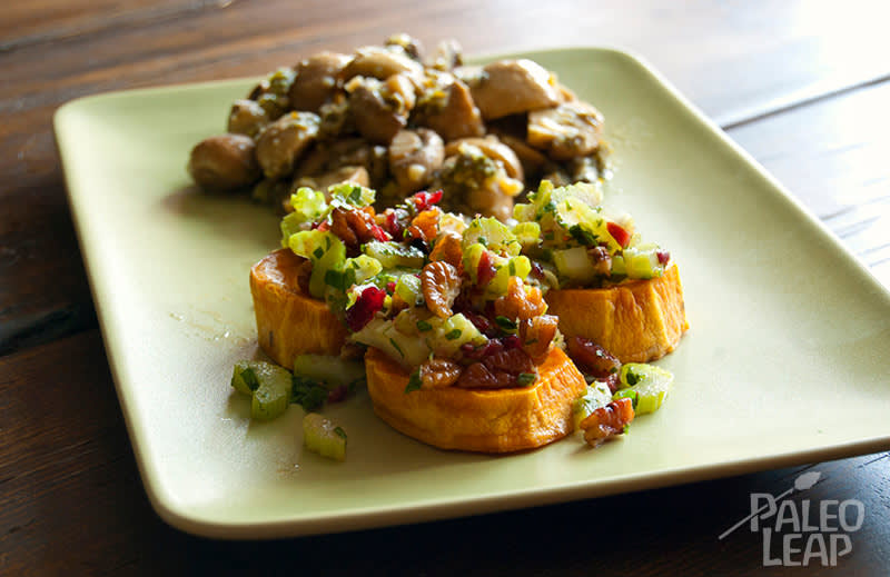 Recipe of the week - Sweet Potato Bites with roasted Mushrooms