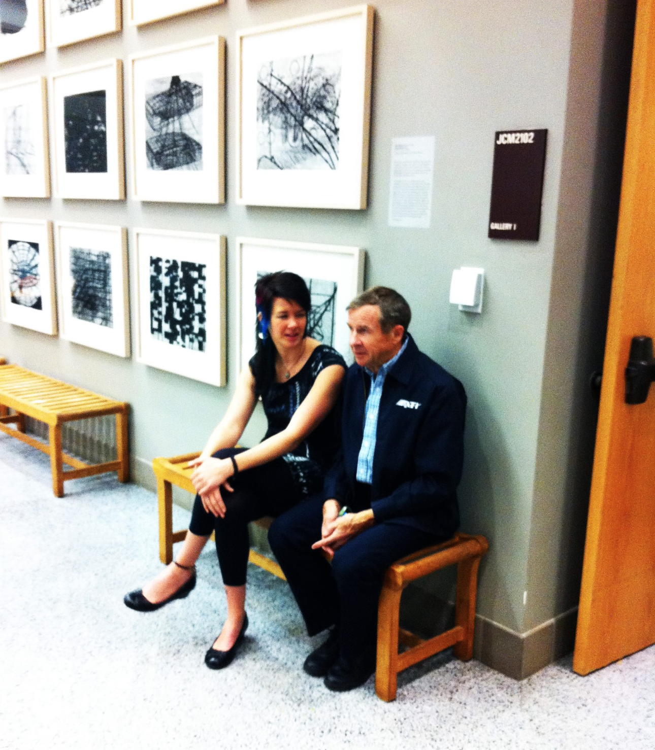 Jody and her father Craig Cross at TSU during her graduation gallery show. December, 2011.