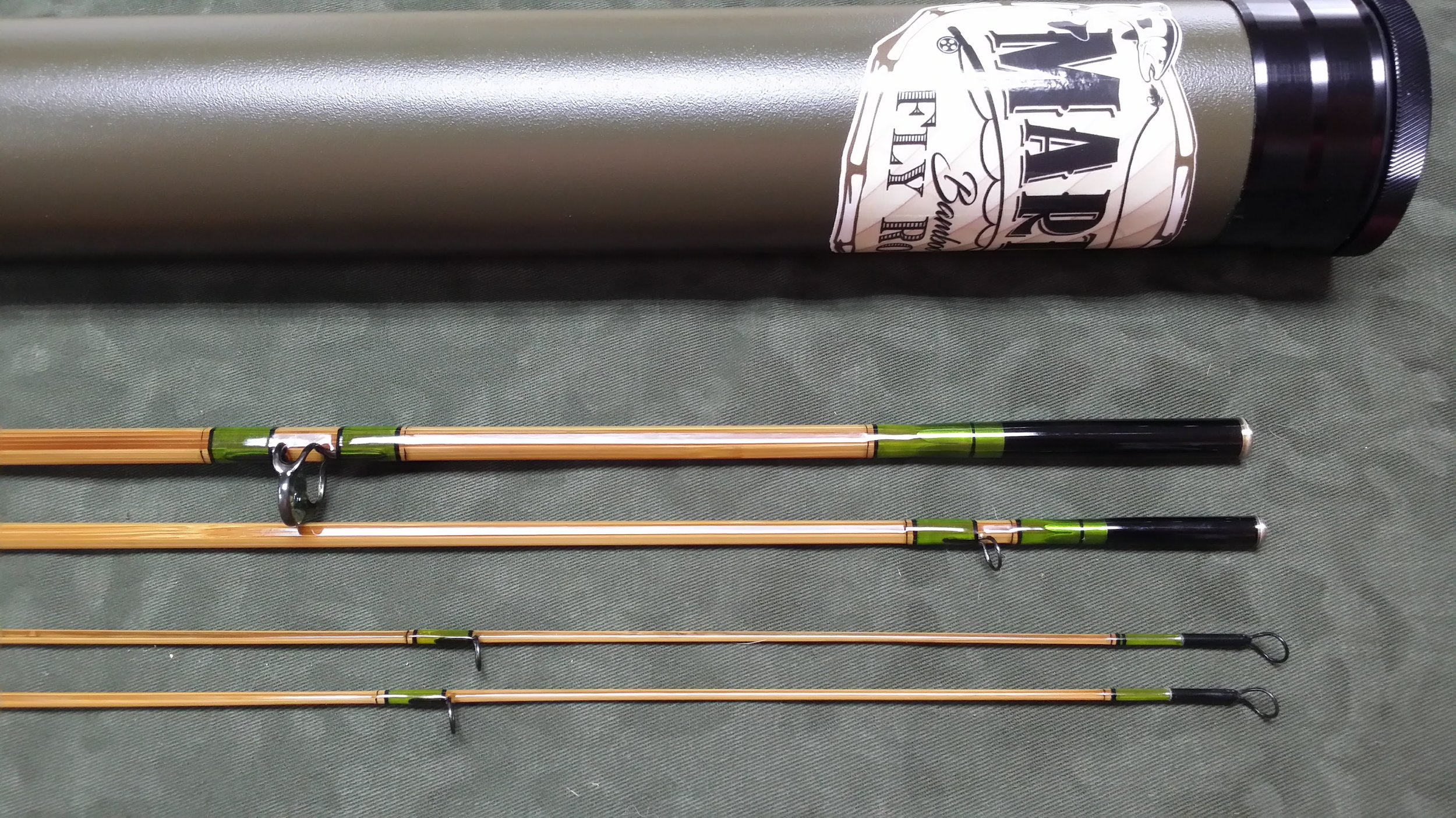 "8'-6"" 4wt. 3pc with an extra butterflied tip"