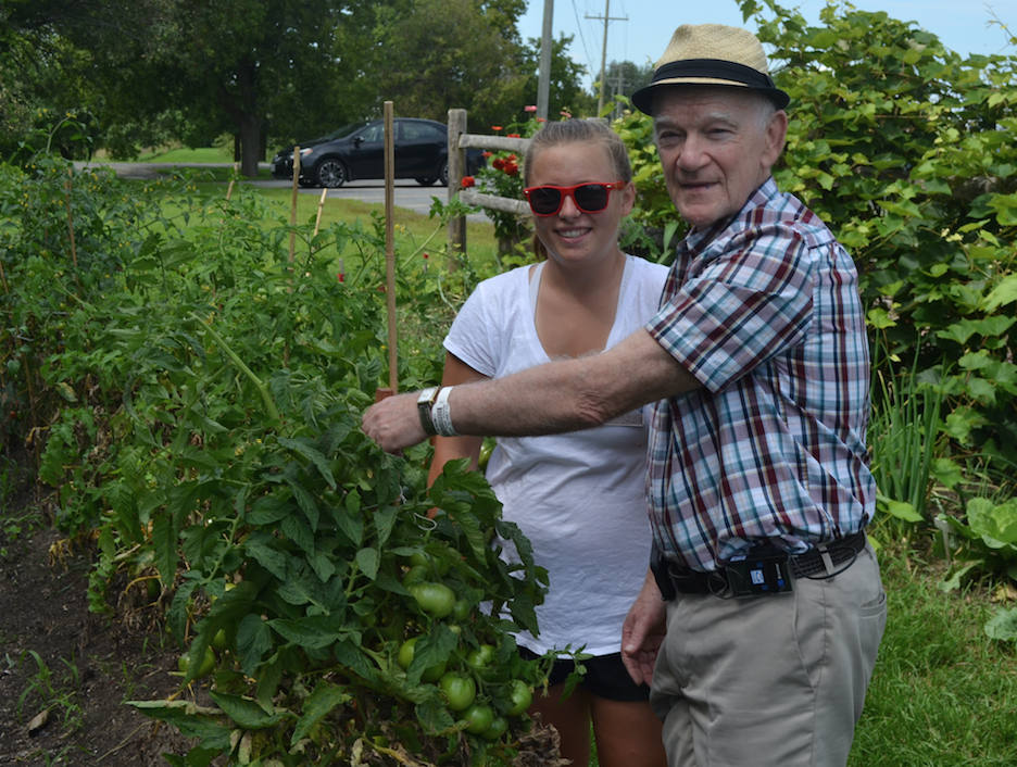 Patients tend to and enjoy the garden at HGMH.