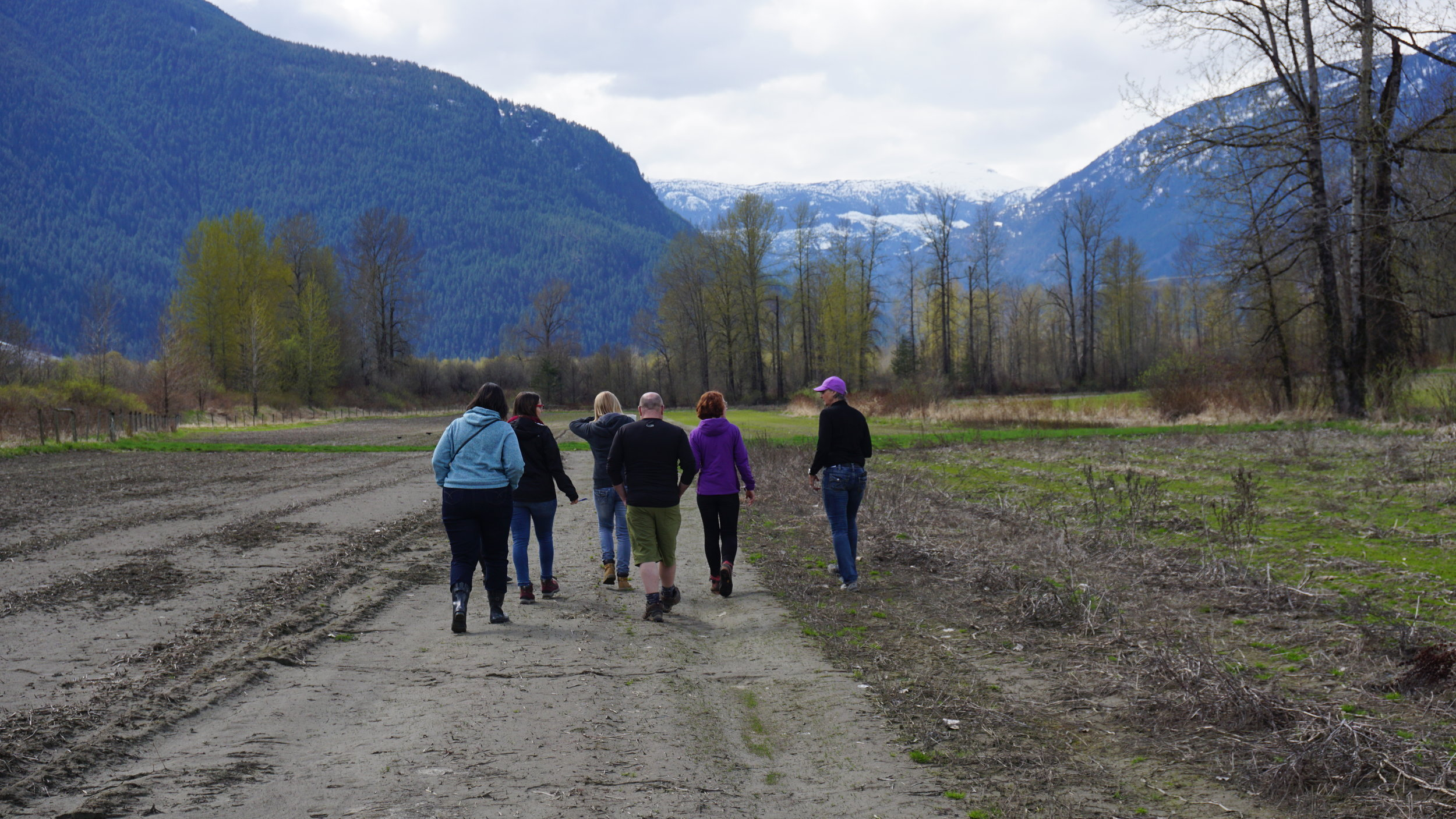 Nourish innovators on a learning journey to North Arm Farm in British Columbia during the cohort retreat in Spring 2018.