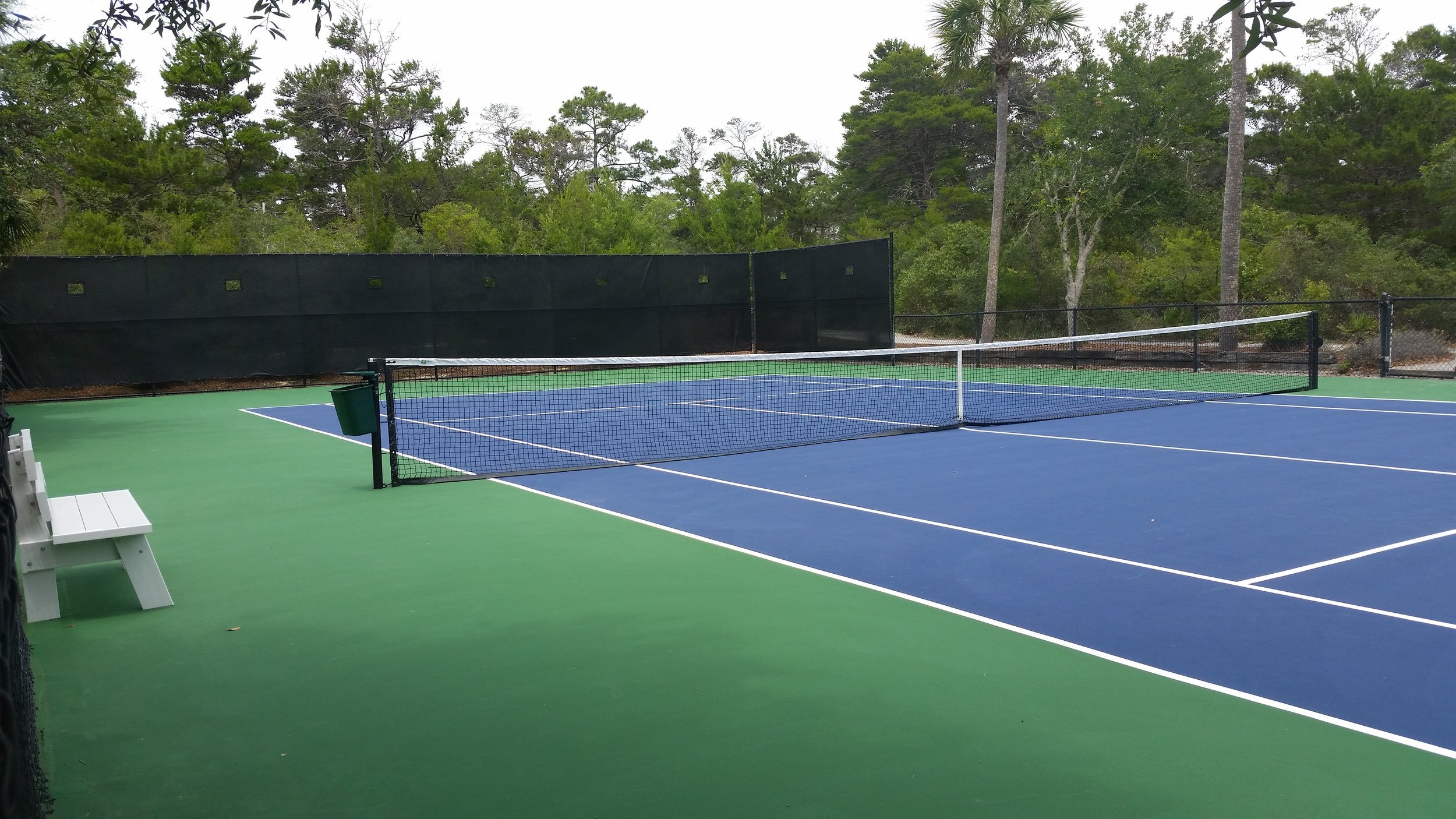 "Tennis   Enjoy a leisurely game or get your ""GAME ON"" at one of our two tennis courts."