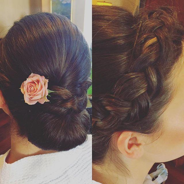#braidstyles #bridalhair #rose