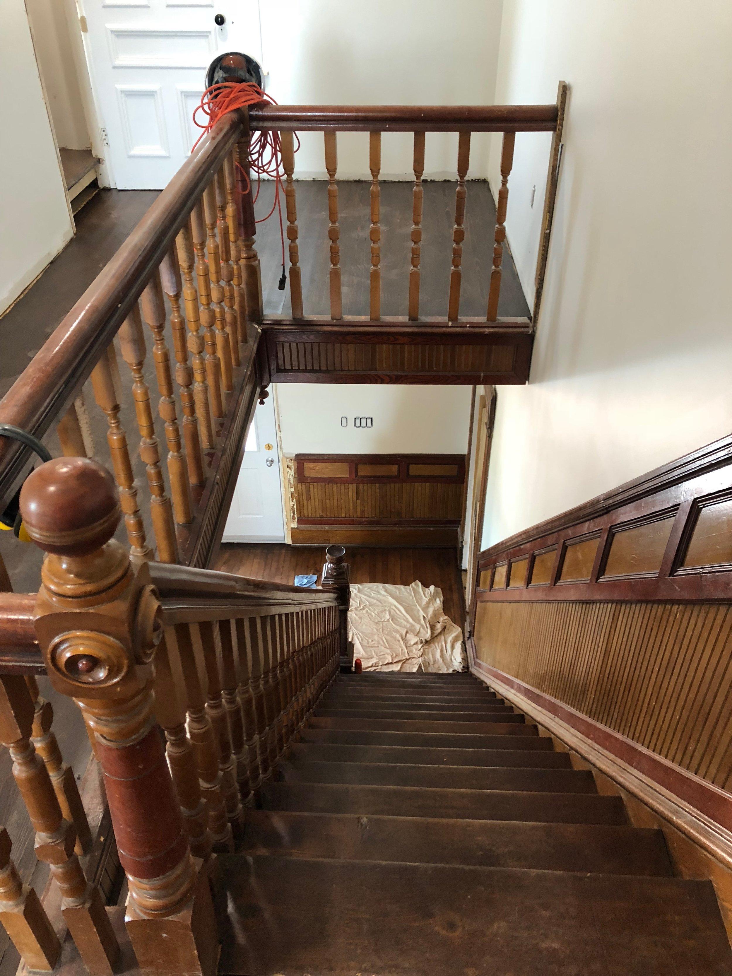 Restored stairs