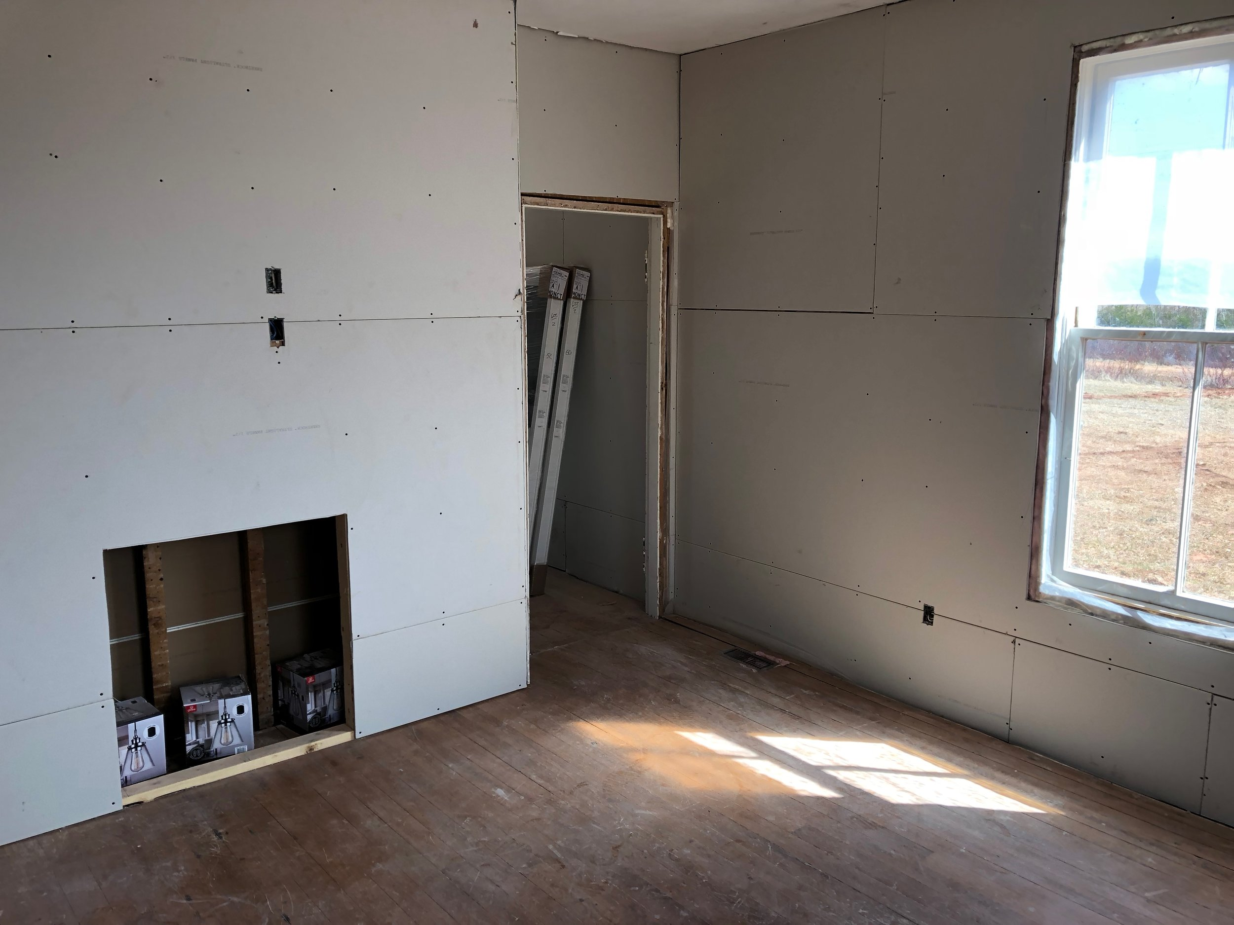 More dry wall