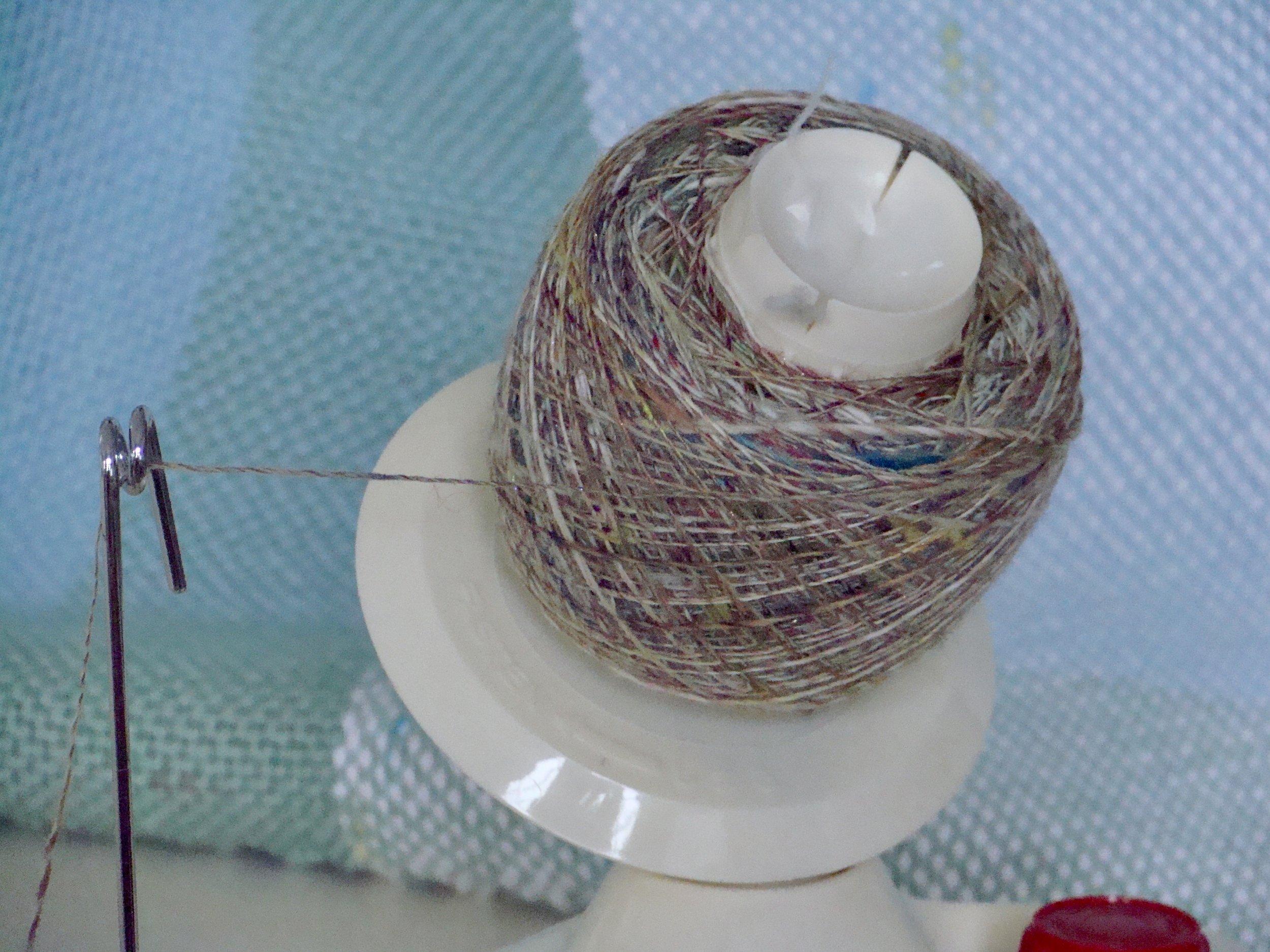 single ply-yarn-handspun-bobbin winder