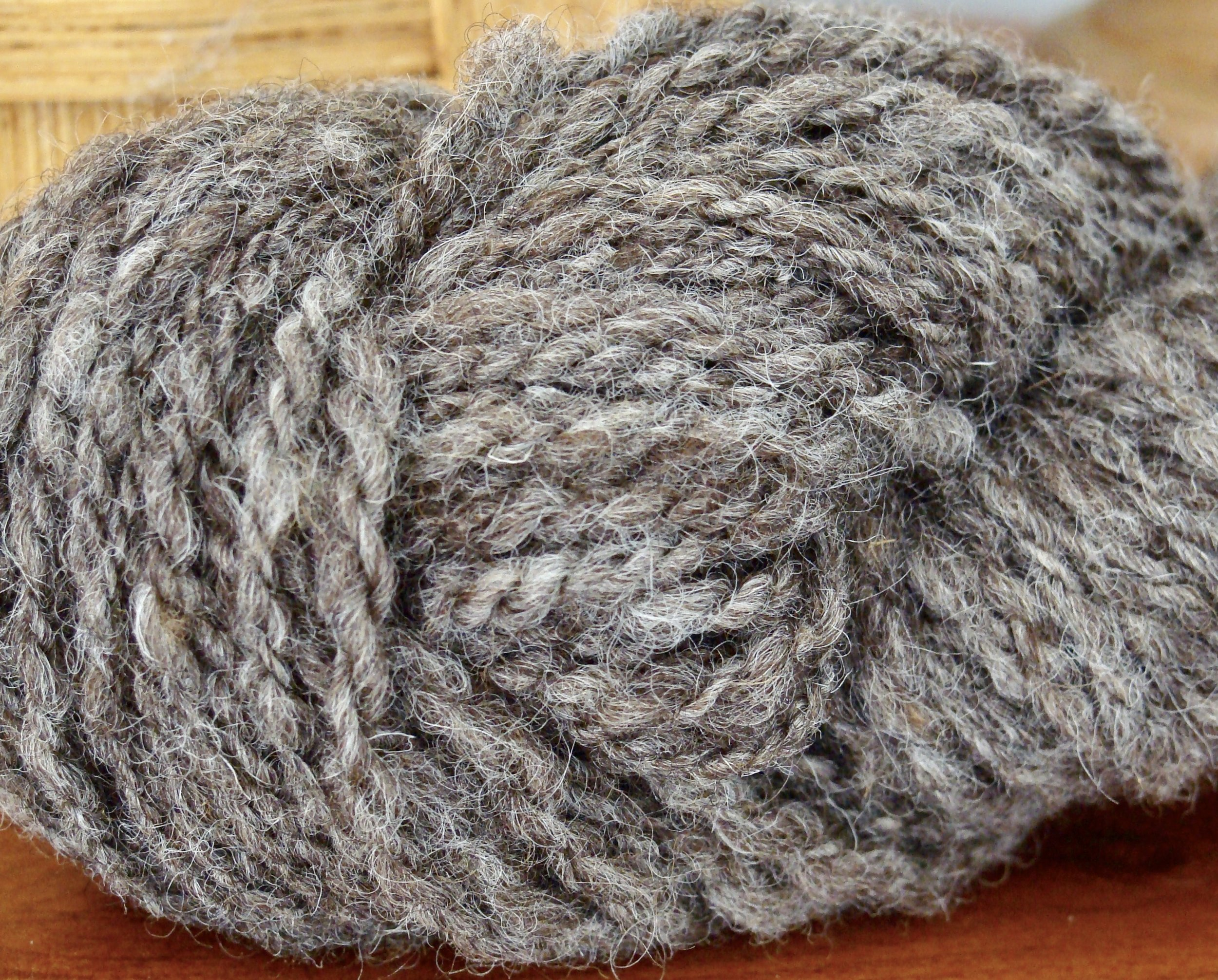 Coopworth wool handspun 2-ply after finishing