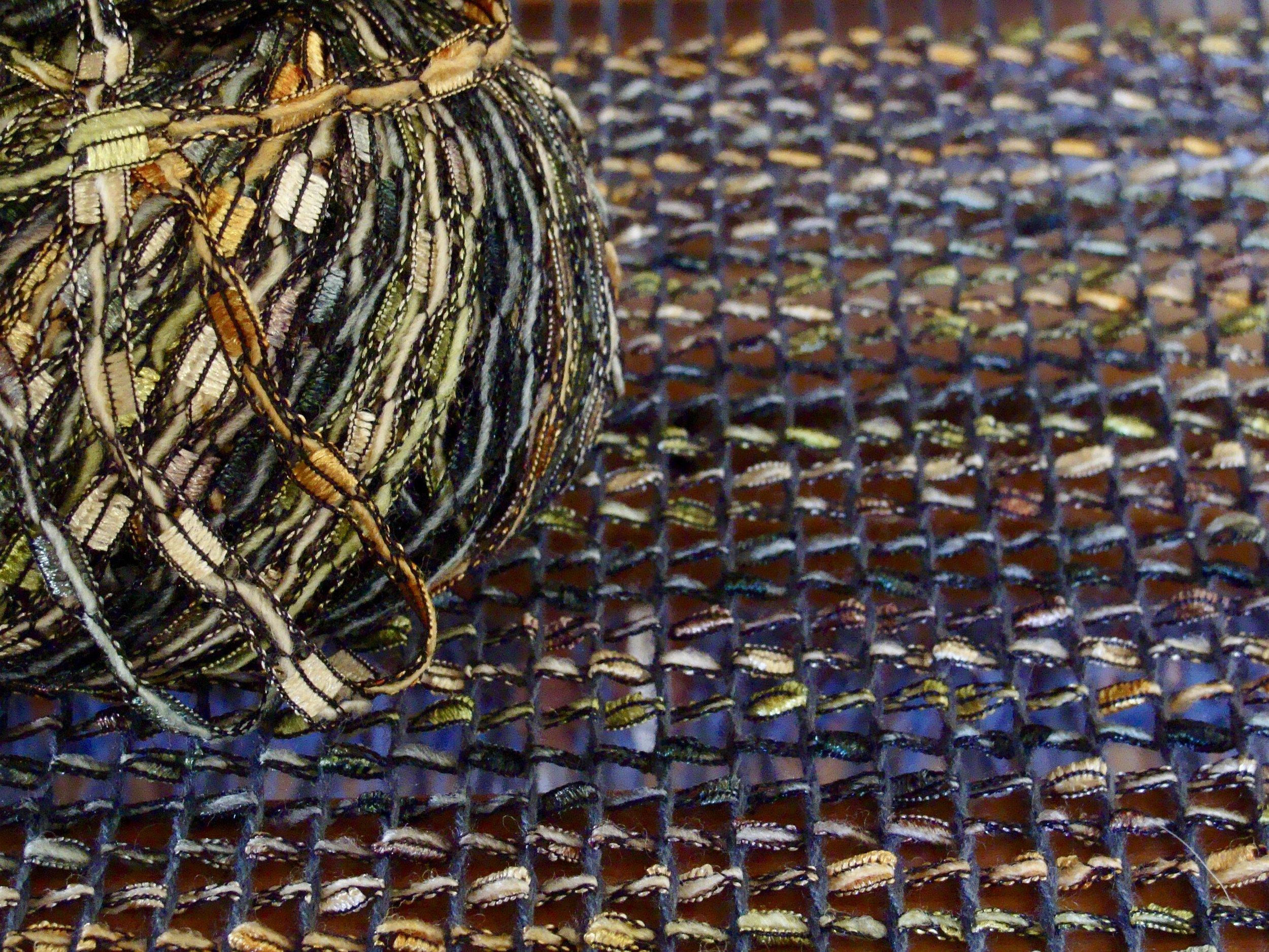 bead leno scarf on Leclerc weaving loom