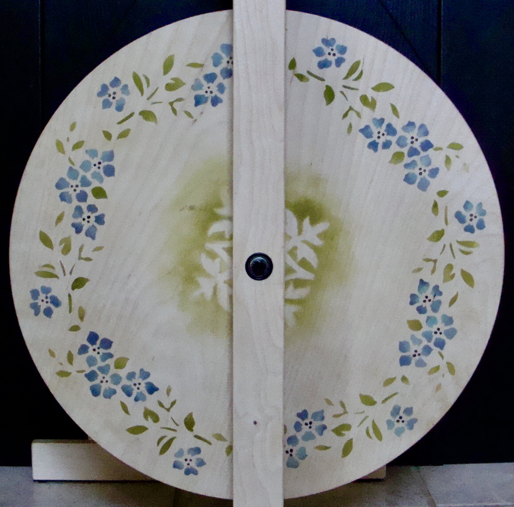 finished stenciled S-17 spinning wheel