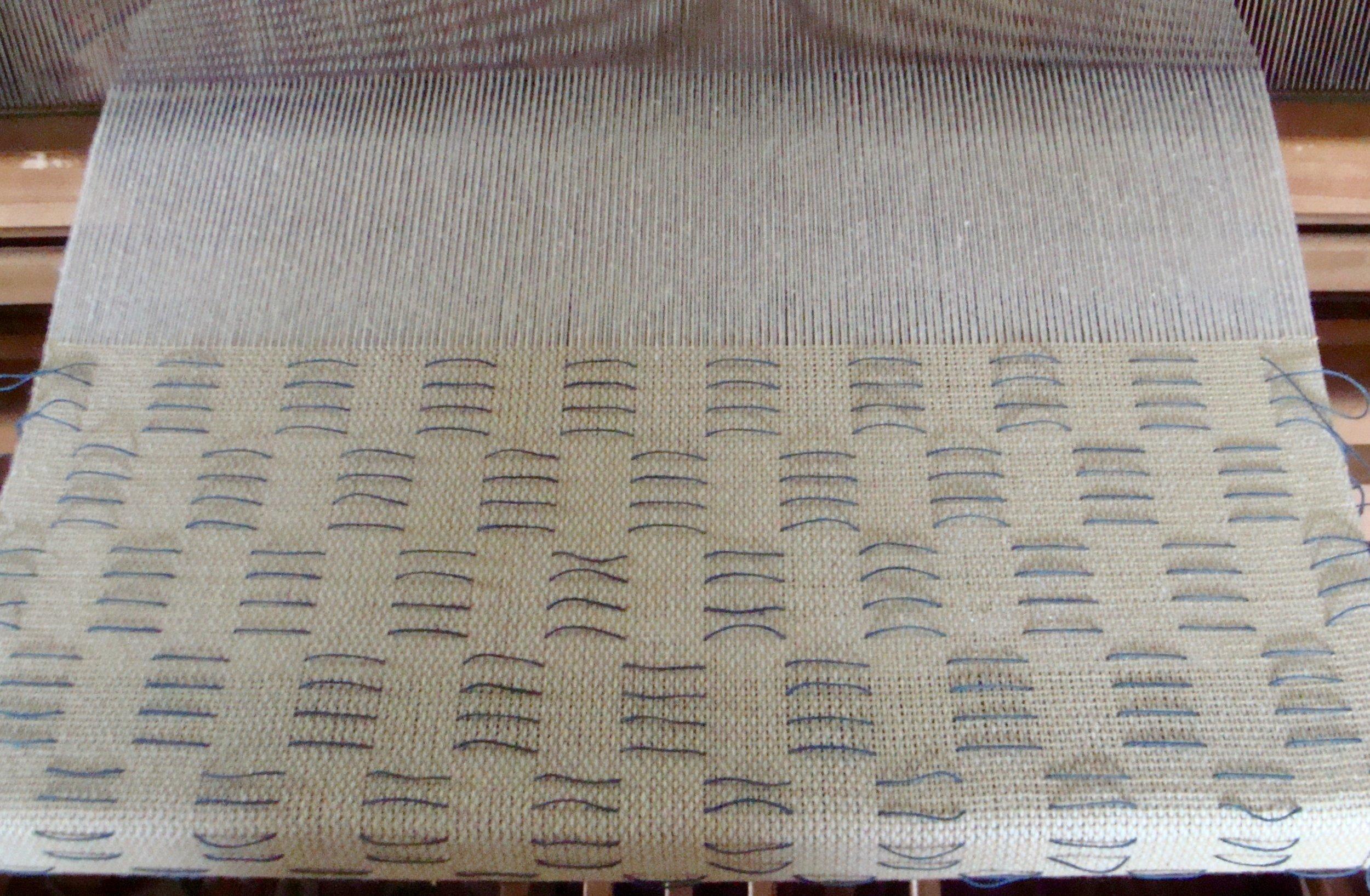 woven shibori on the loom