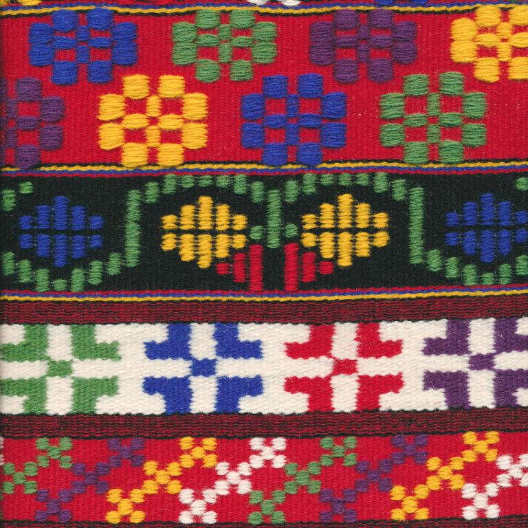 Joanne Hall's sampler for Swedish Art Weaves class