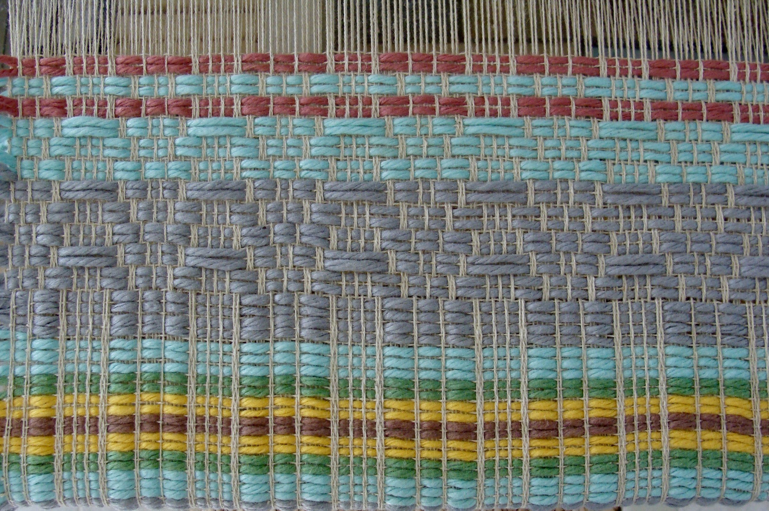 telemarksteppe weave on loom