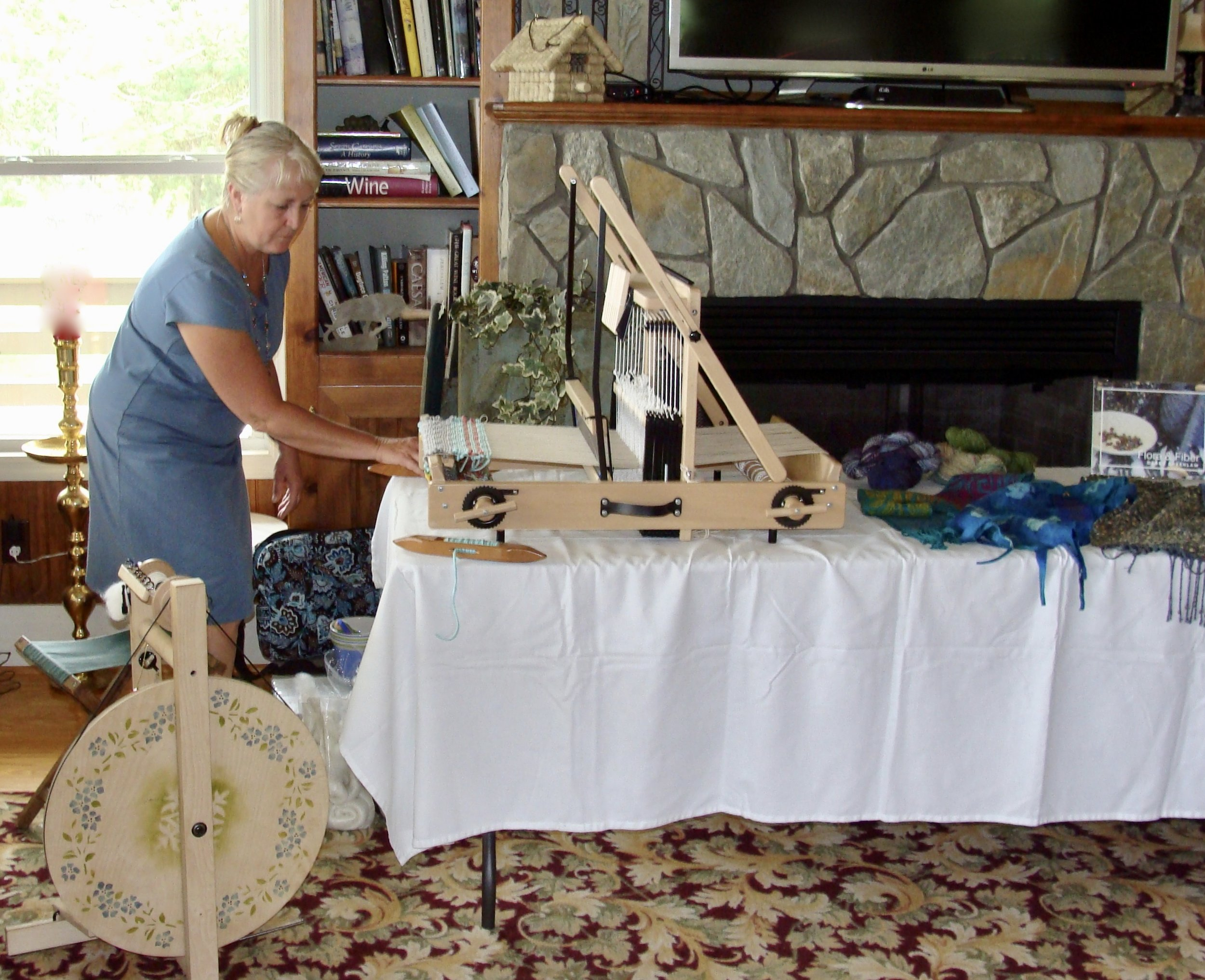 Weaving & Spinning demo @ Enoree River Winery - Newberry Ag + Art Tour