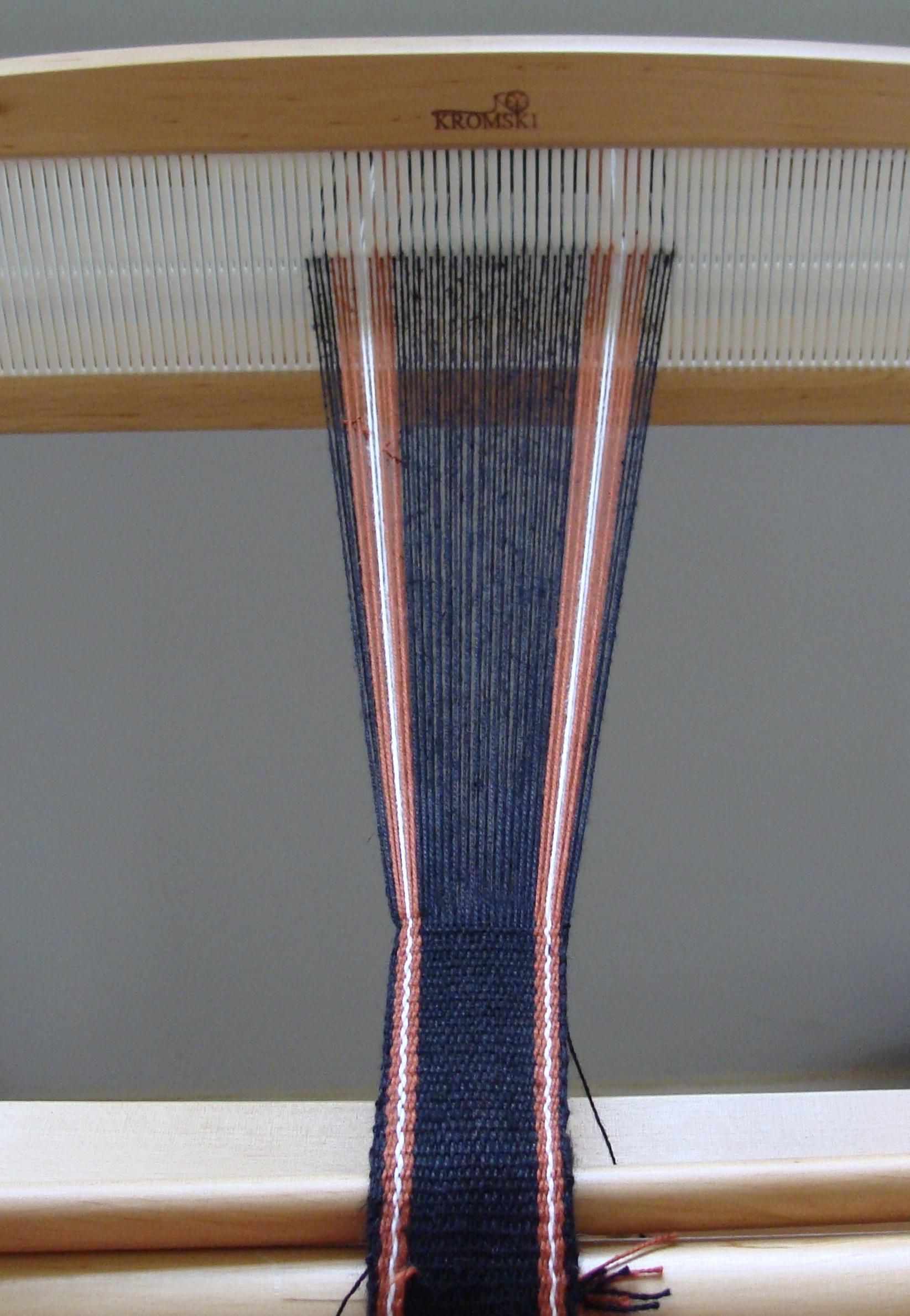 Handwoven Band on rigid heddle loom