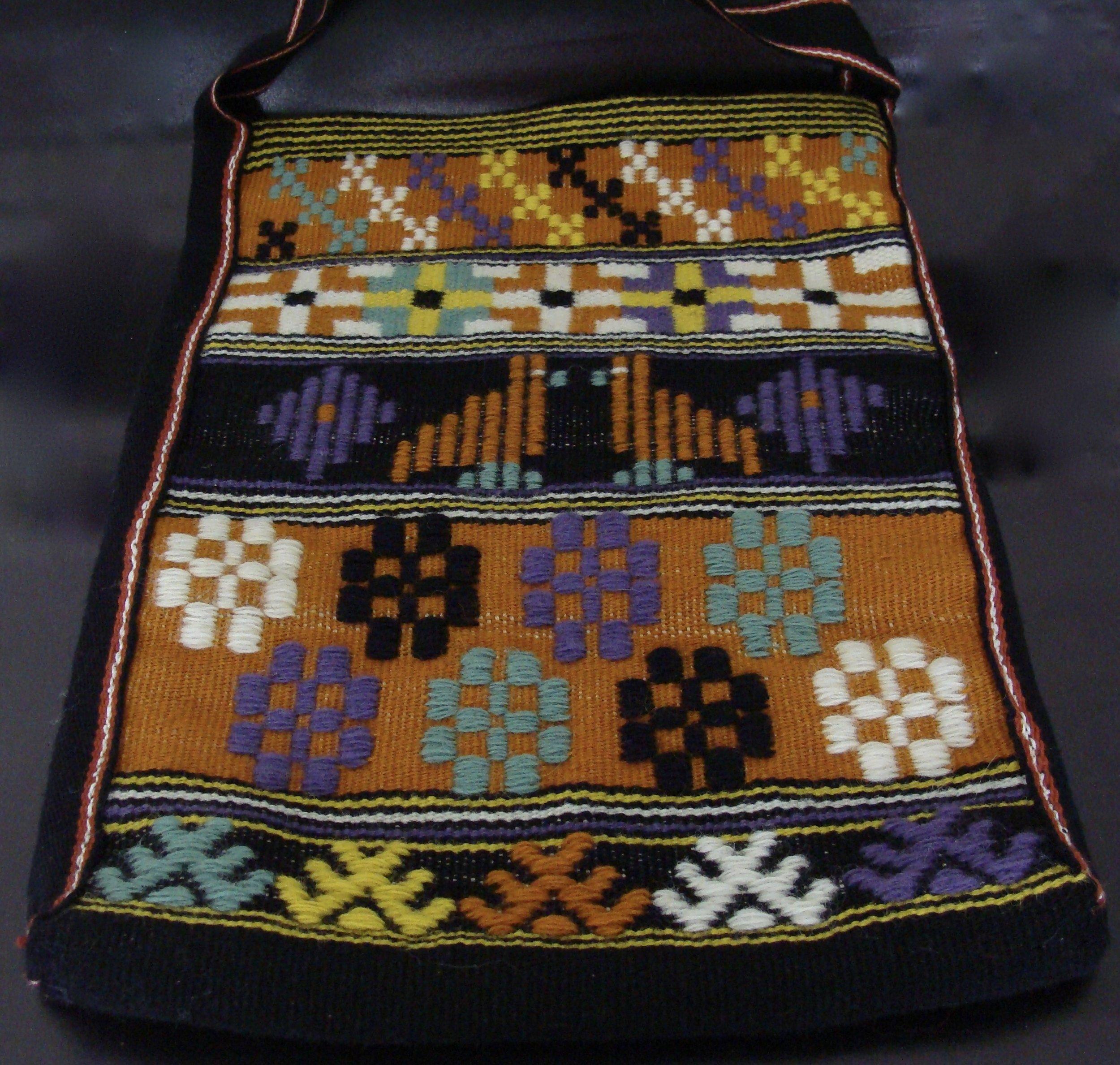 handwoven Swedish Art Weave tote