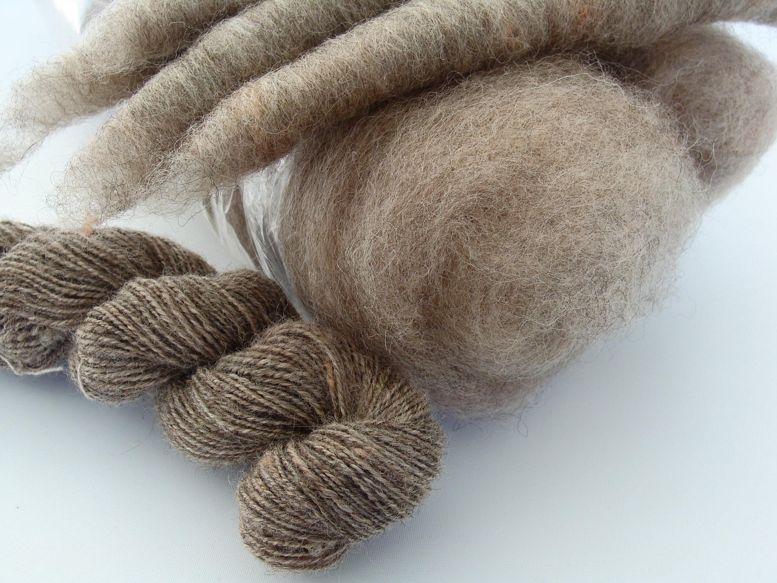 handspun Romney wool yarn