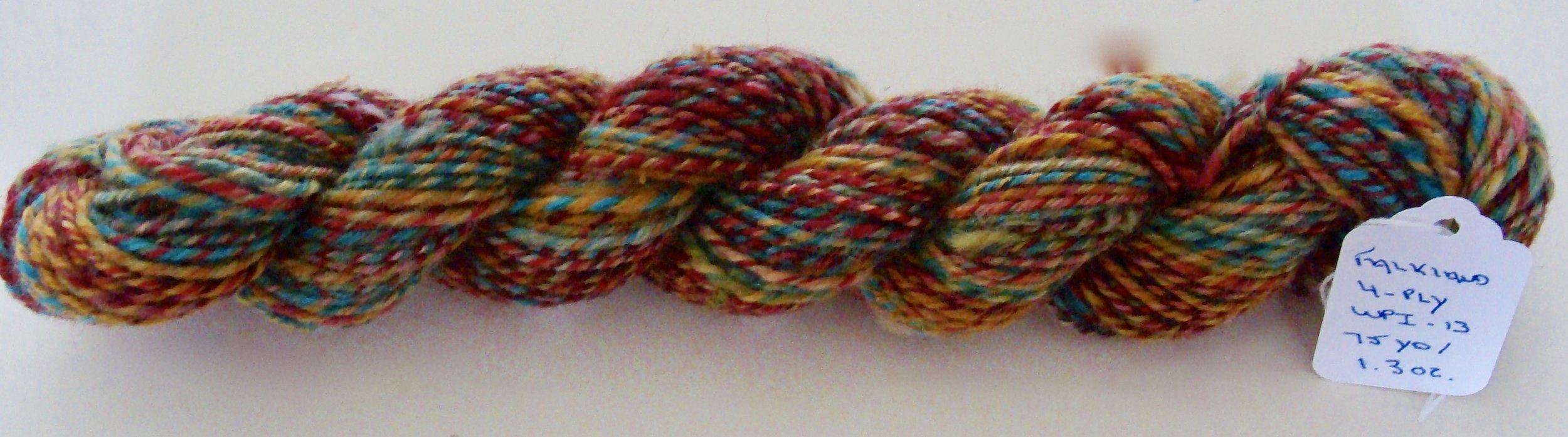 4 ply handspun Falkland wool yarn