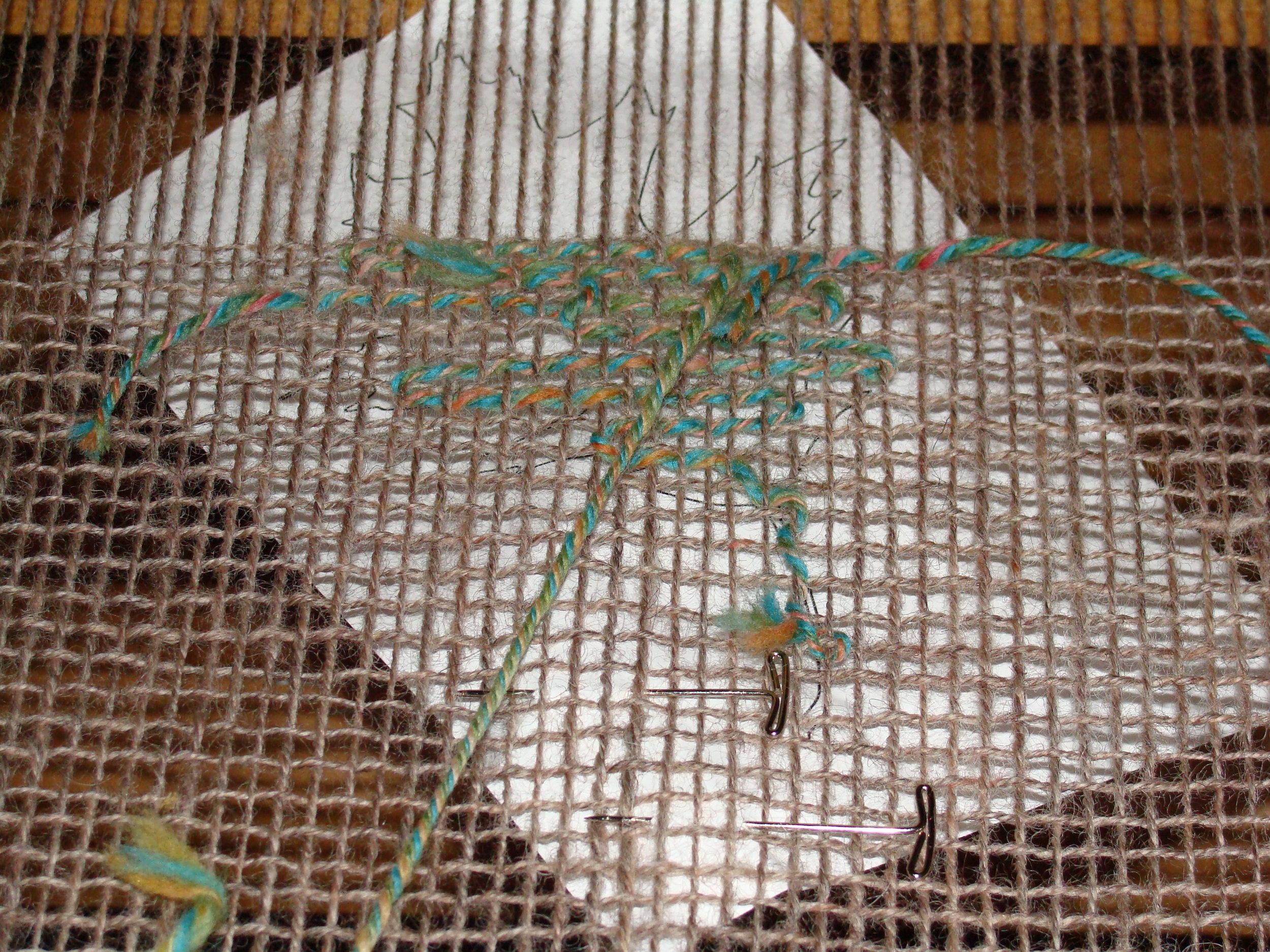 weaving leaf inlay