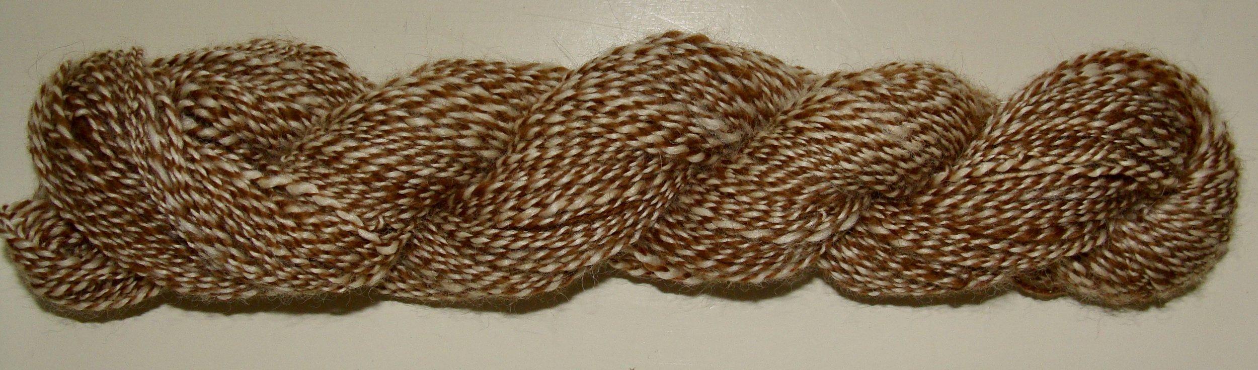 2 ply handspun alpaca yarn