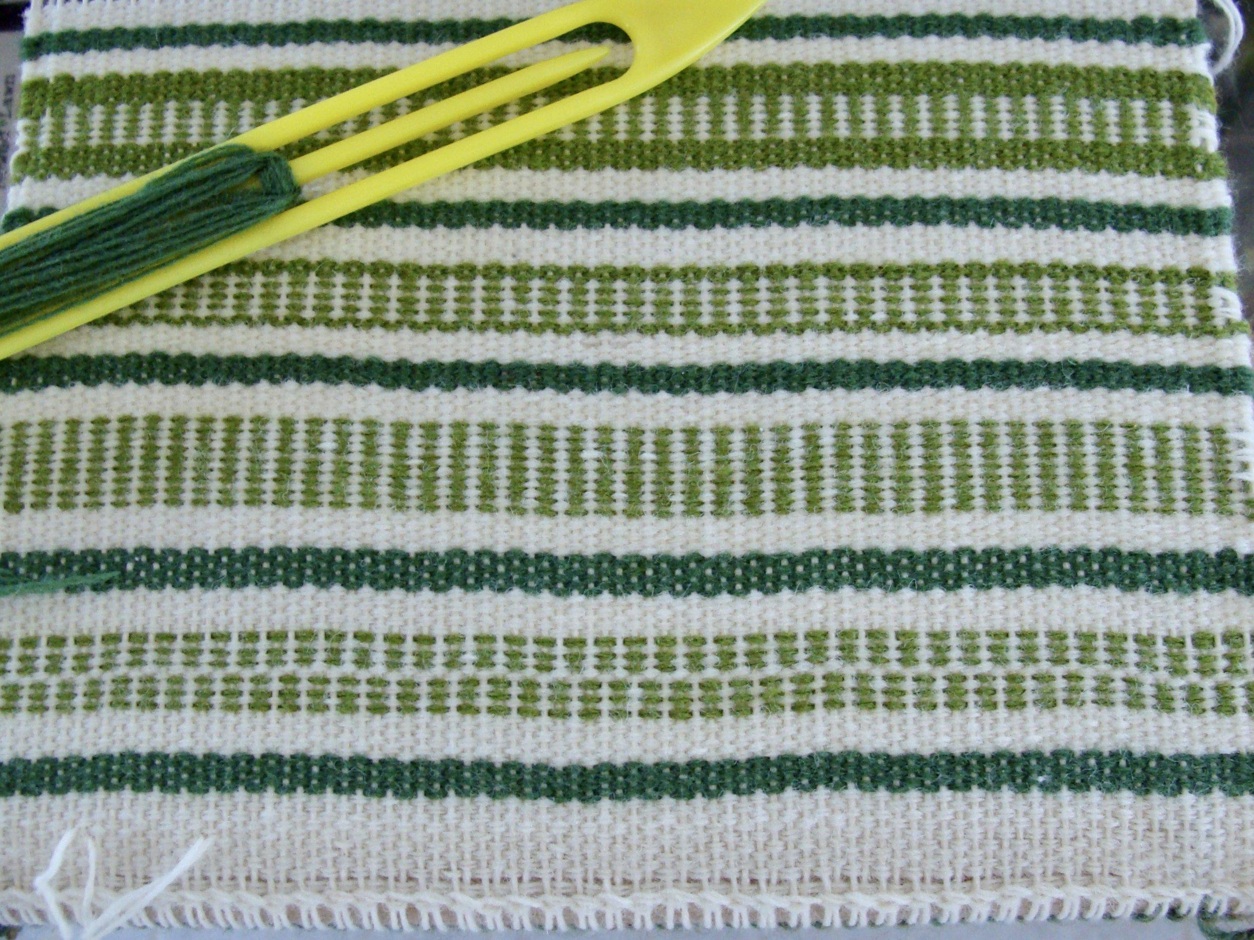 Sampler I - Weft Faced Plain Weave
