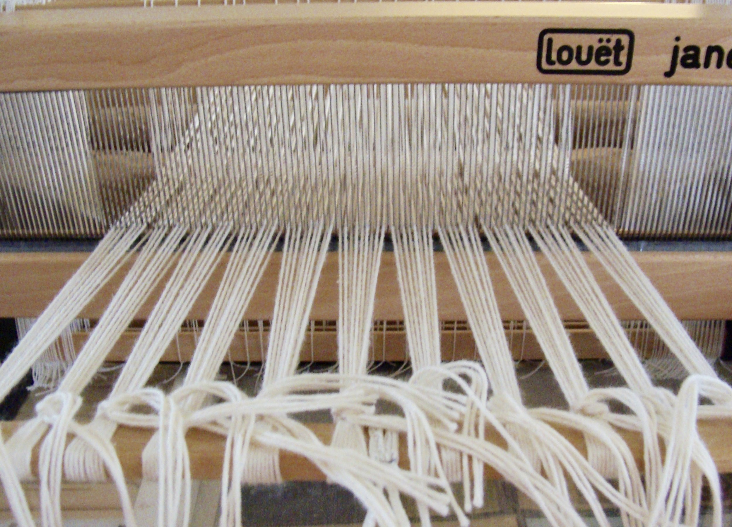 8/4 cotton warp ready for the next weft-faced sampler