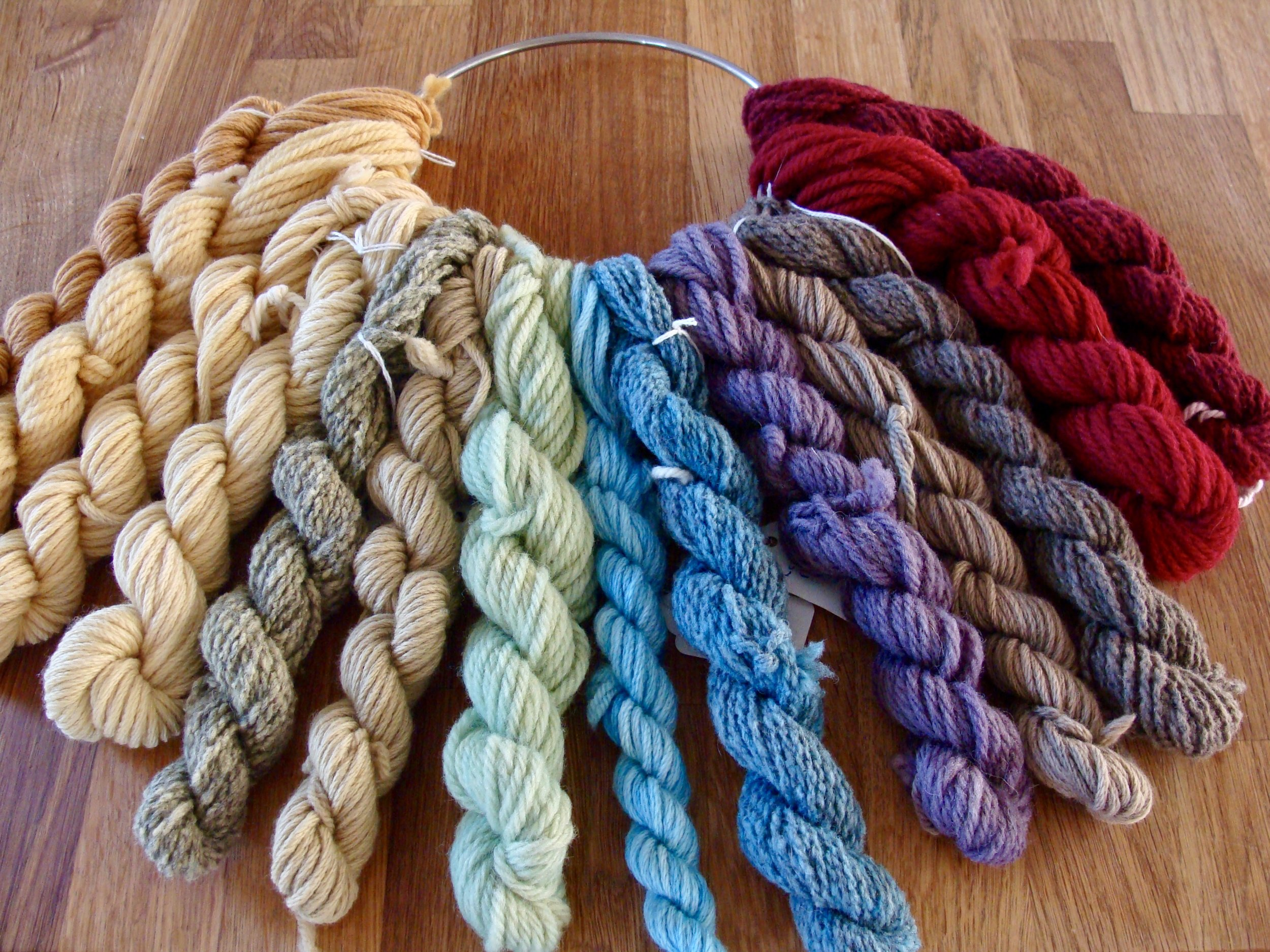 Natural Dyed Color Wheel of Yarn