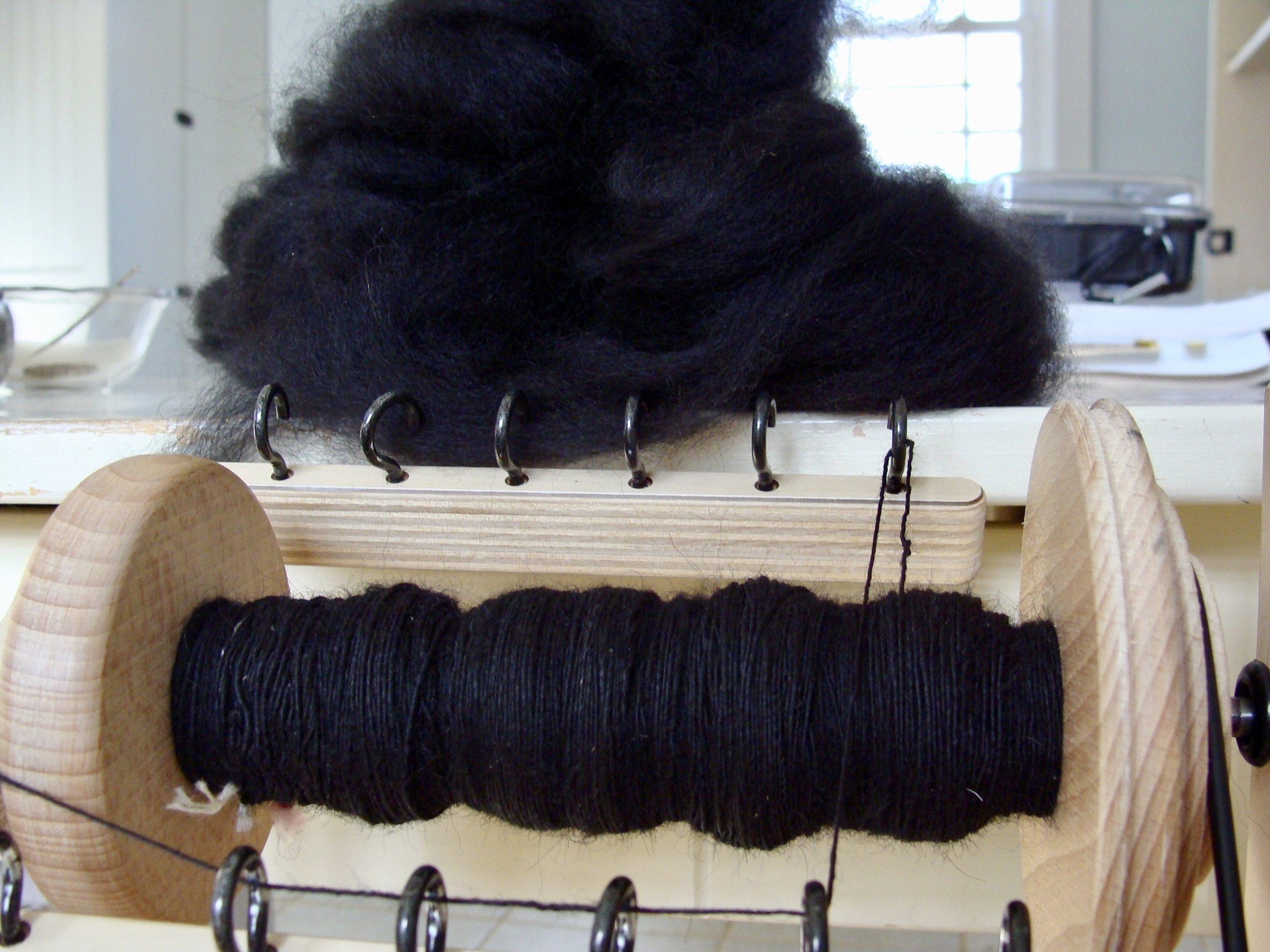 black alpaca handspun