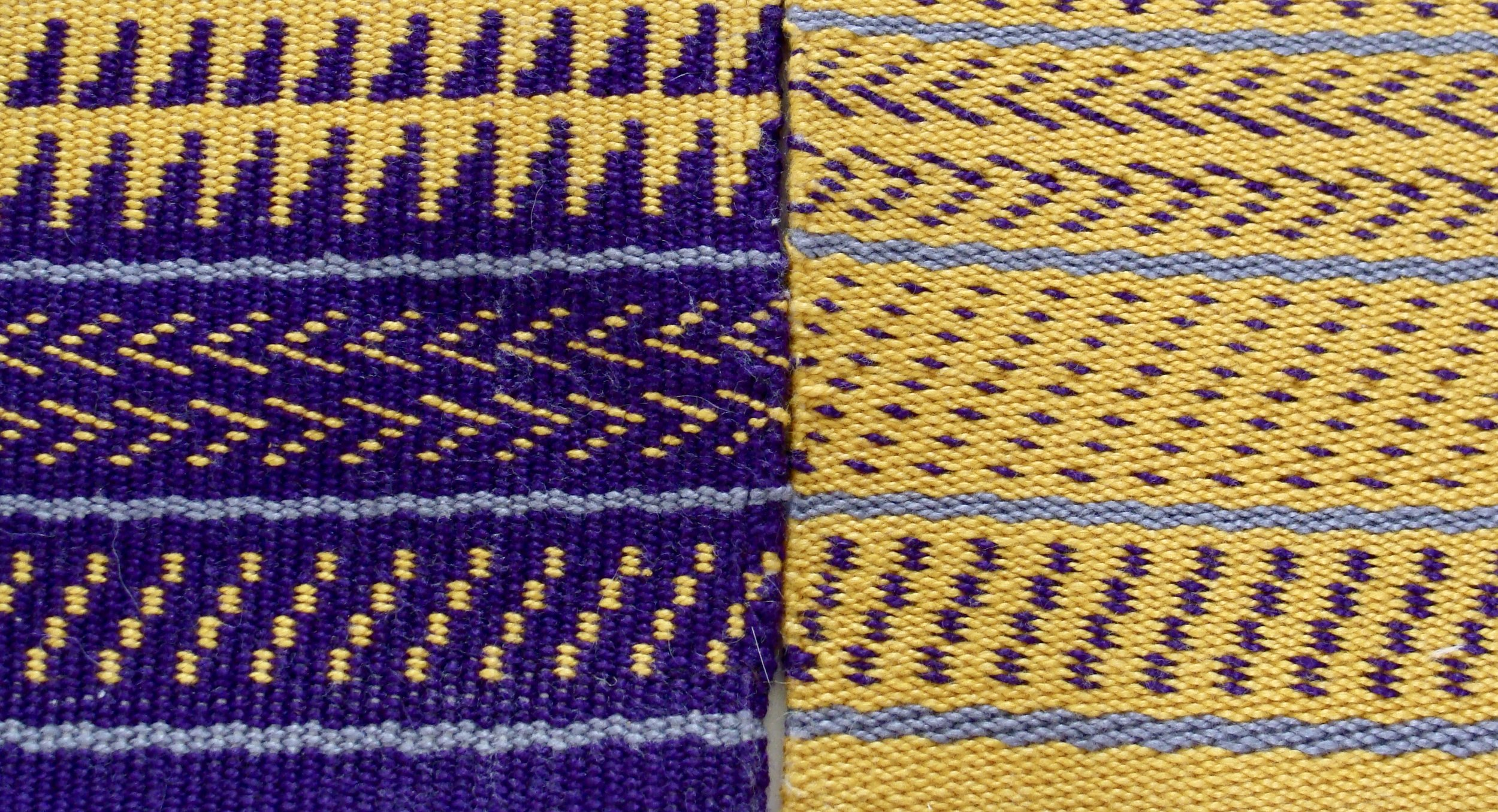 Sampler II Twill 3/1 (left). Sampler III Twill 2/2 (right)